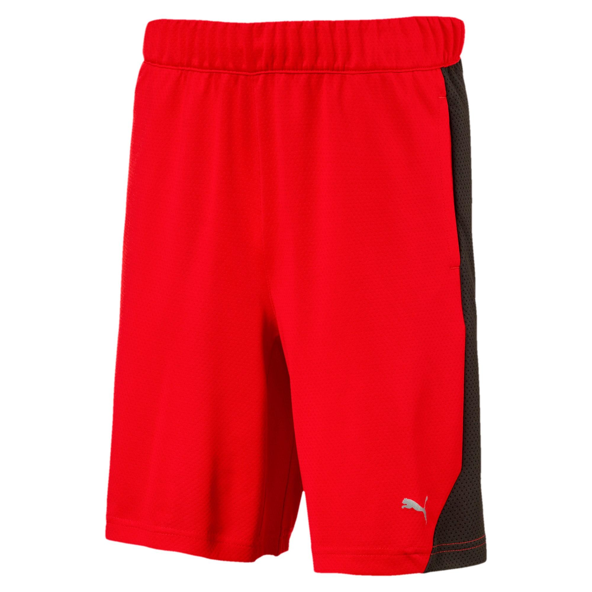 Thumbnail 1 of Boys' Gym Shorts, Flame Scarlet, medium-IND