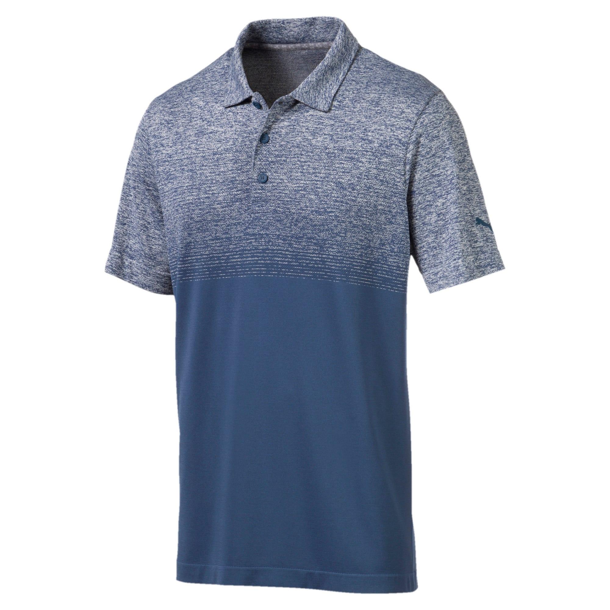 Miniatura 1 de Camiseta tipo polo evoKNIT Ombre para hombre, Gibraltar Sea, mediano
