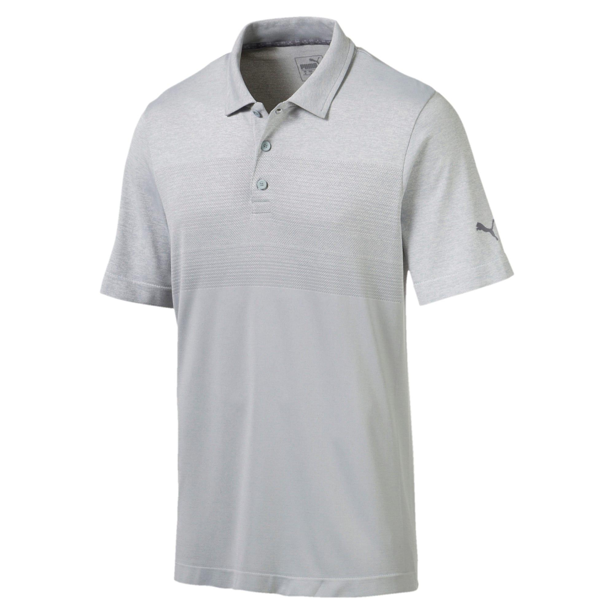 Miniatura 1 de Camiseta tipo polo evoKNIT Ombre para hombre, Quarry, mediano