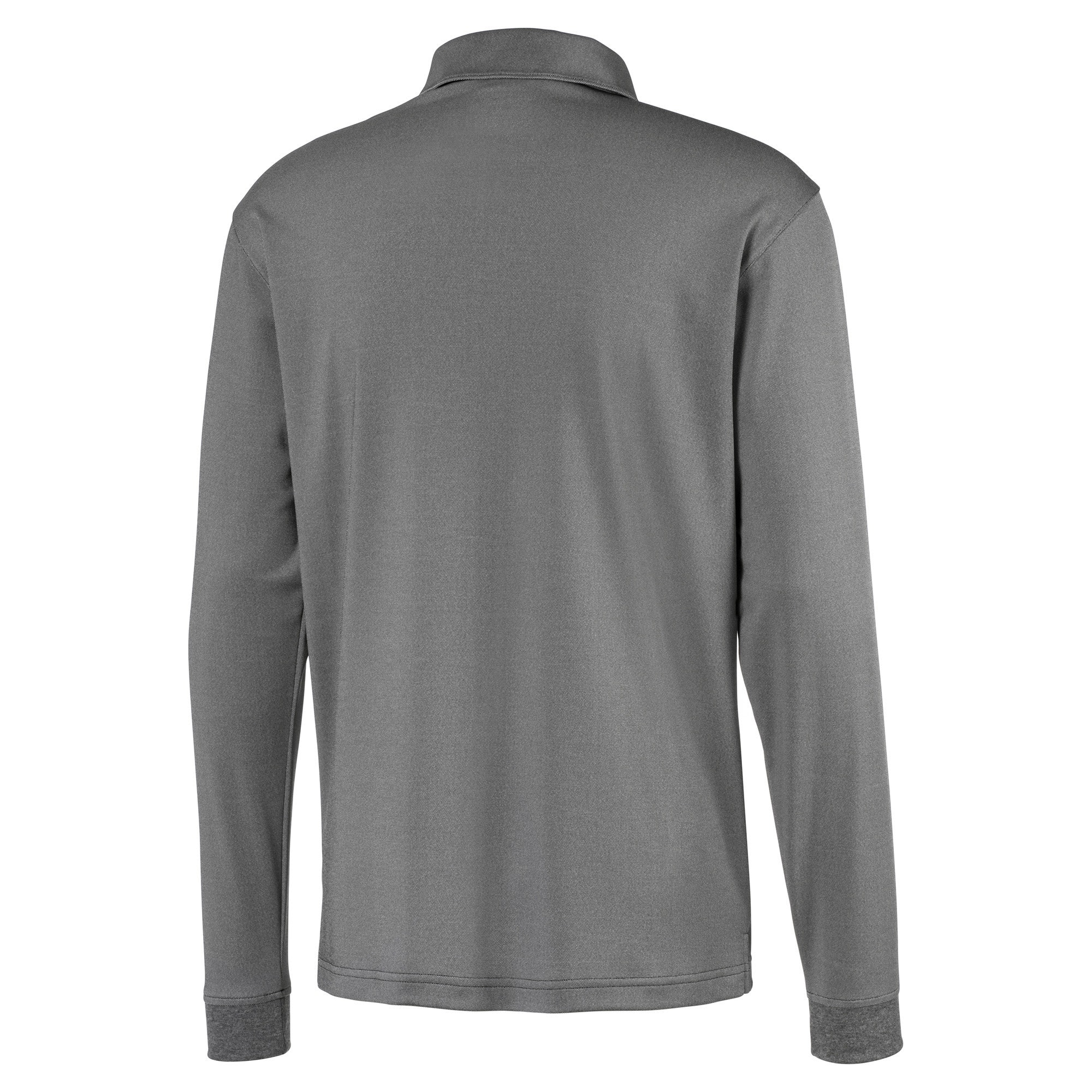 Thumbnail 6 of Long Sleeve Men's Golf Polo, Puma Black Heather, medium