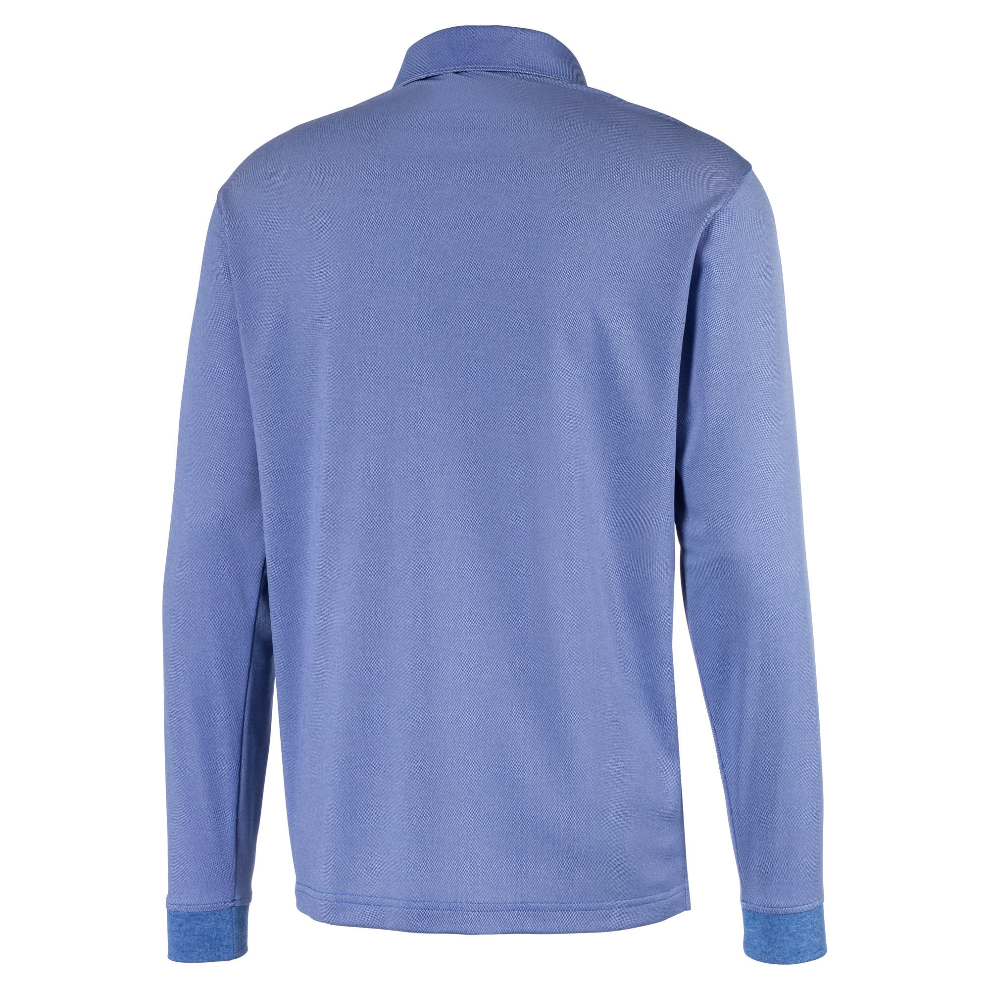 Long Sleeve Men's Golf Polo, Dazzling Blue Heather, large