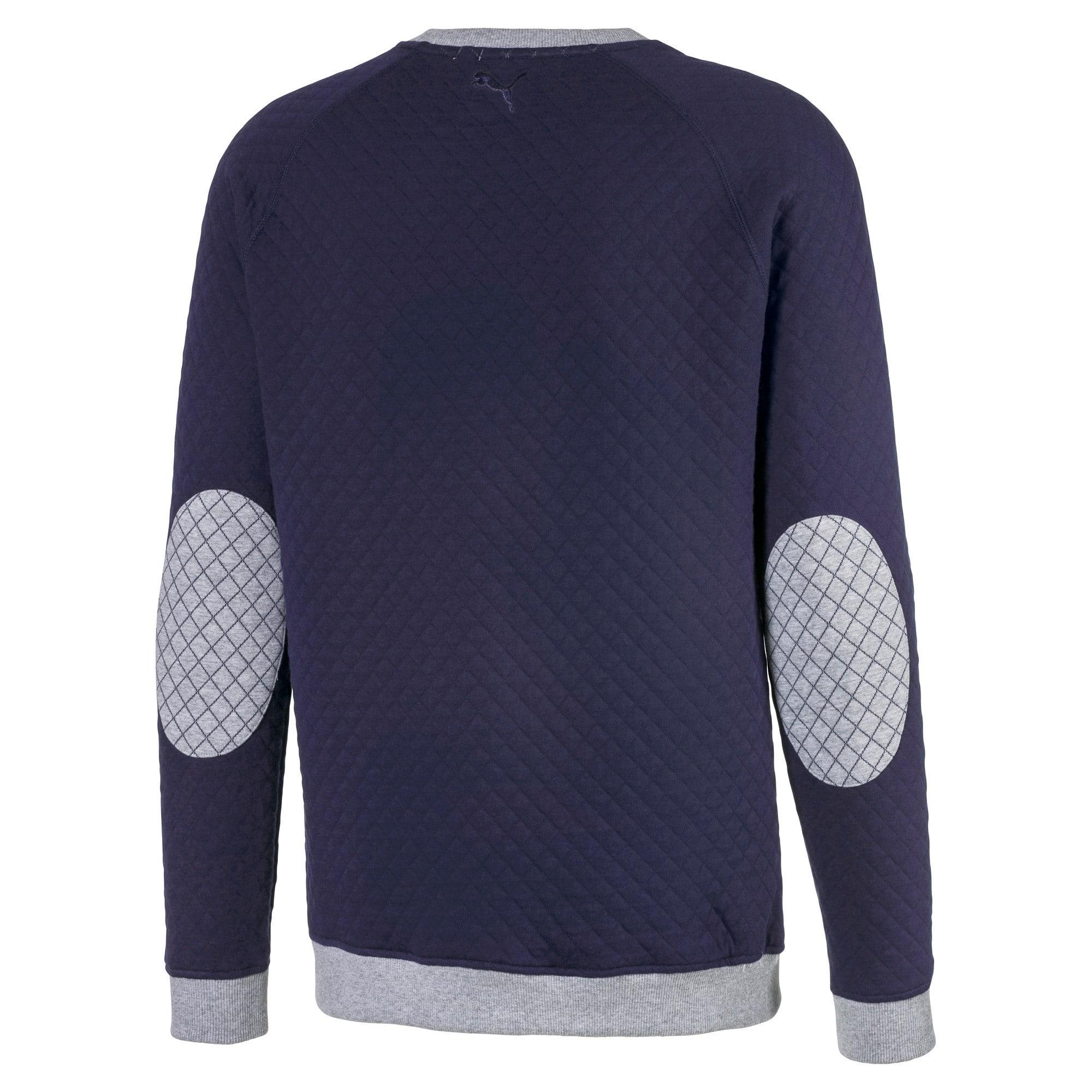 Thumbnail 6 of Doorgestikte golfsweater voor heren, Quarry Heather, medium