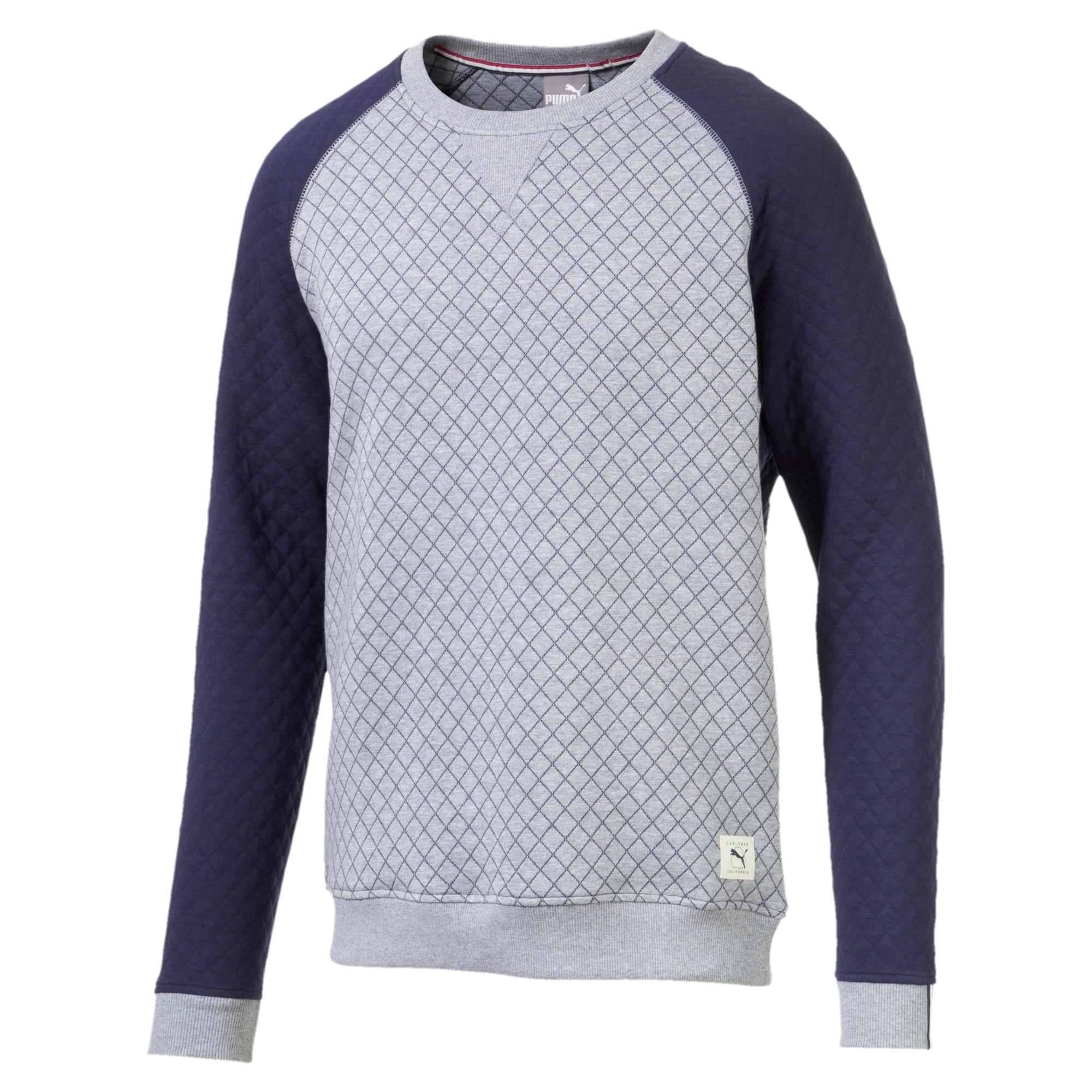 Thumbnail 5 of Doorgestikte golfsweater voor heren, Quarry Heather, medium
