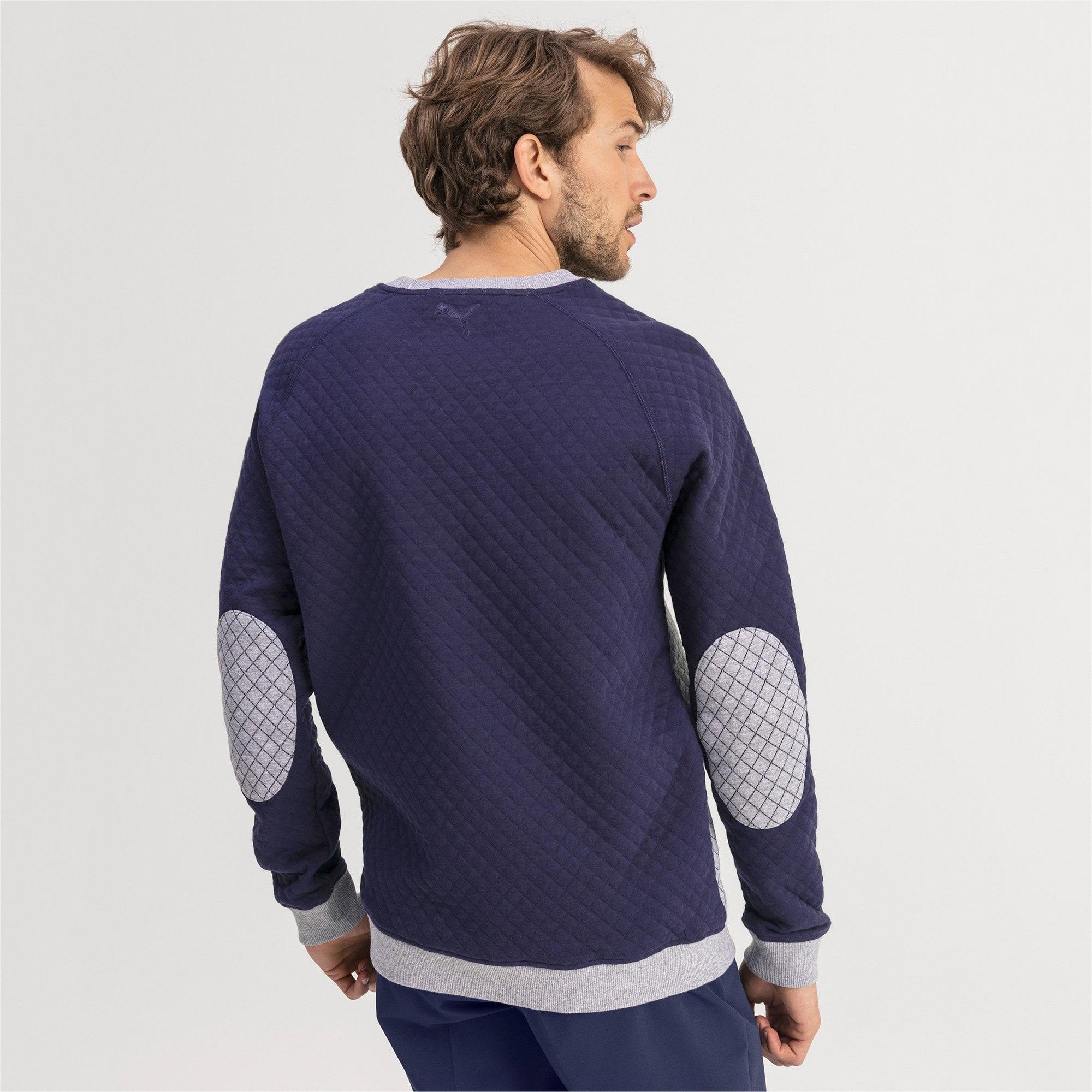 Thumbnail 2 of Doorgestikte golfsweater voor heren, Quarry Heather, medium