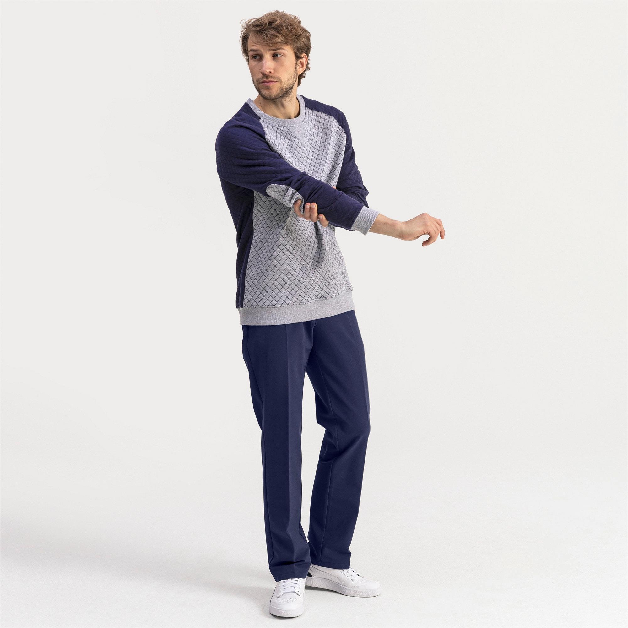 Thumbnail 3 of Doorgestikte golfsweater voor heren, Quarry Heather, medium