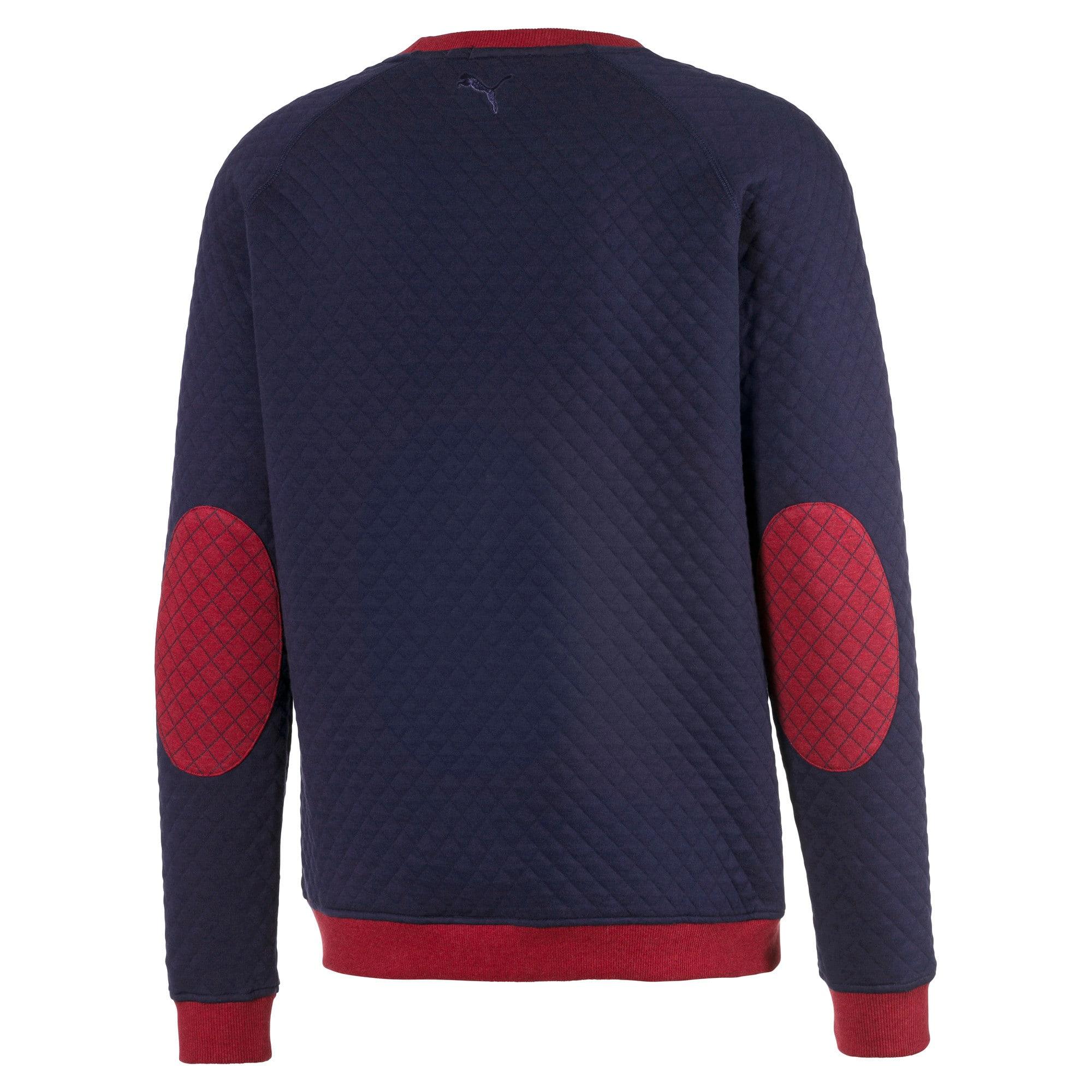 Thumbnail 6 of Doorgestikte golfsweater voor heren, Rhubarb Heather, medium