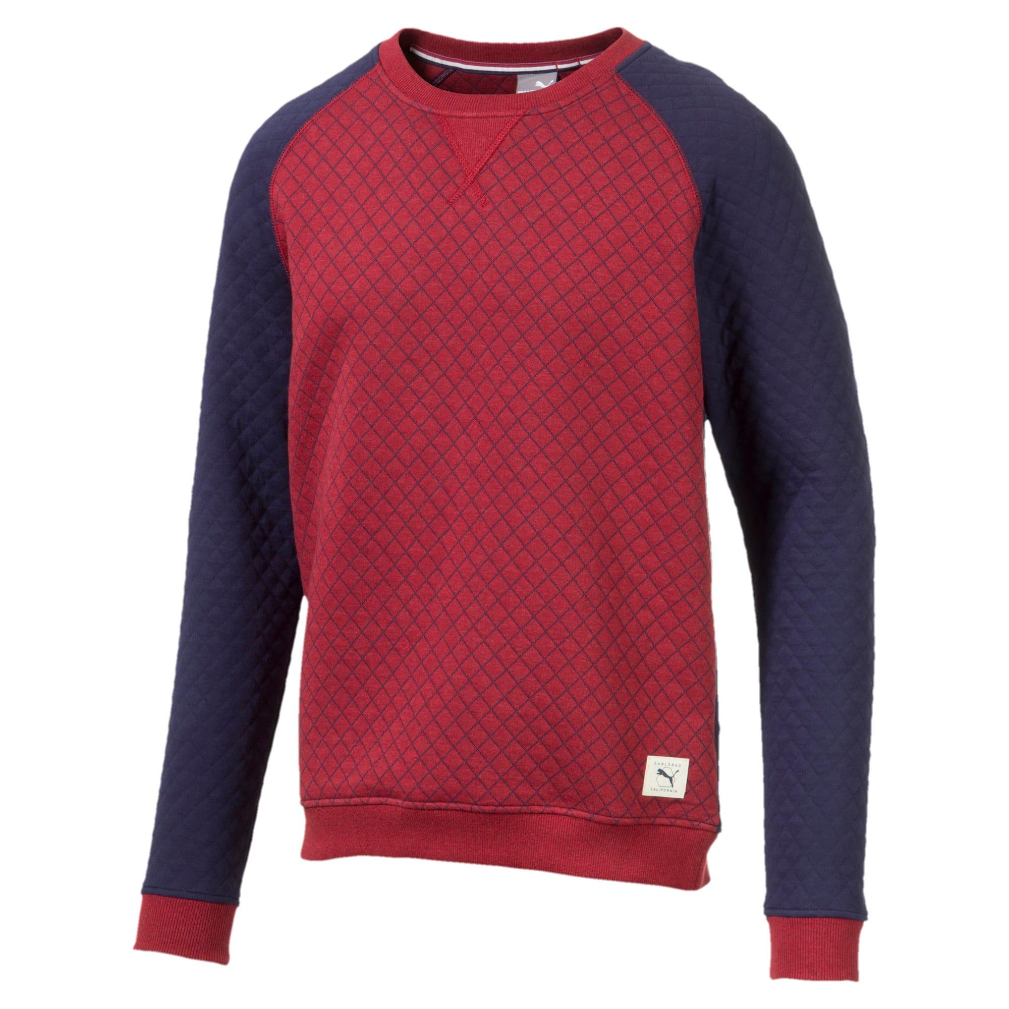 Thumbnail 5 of Doorgestikte golfsweater voor heren, Rhubarb Heather, medium