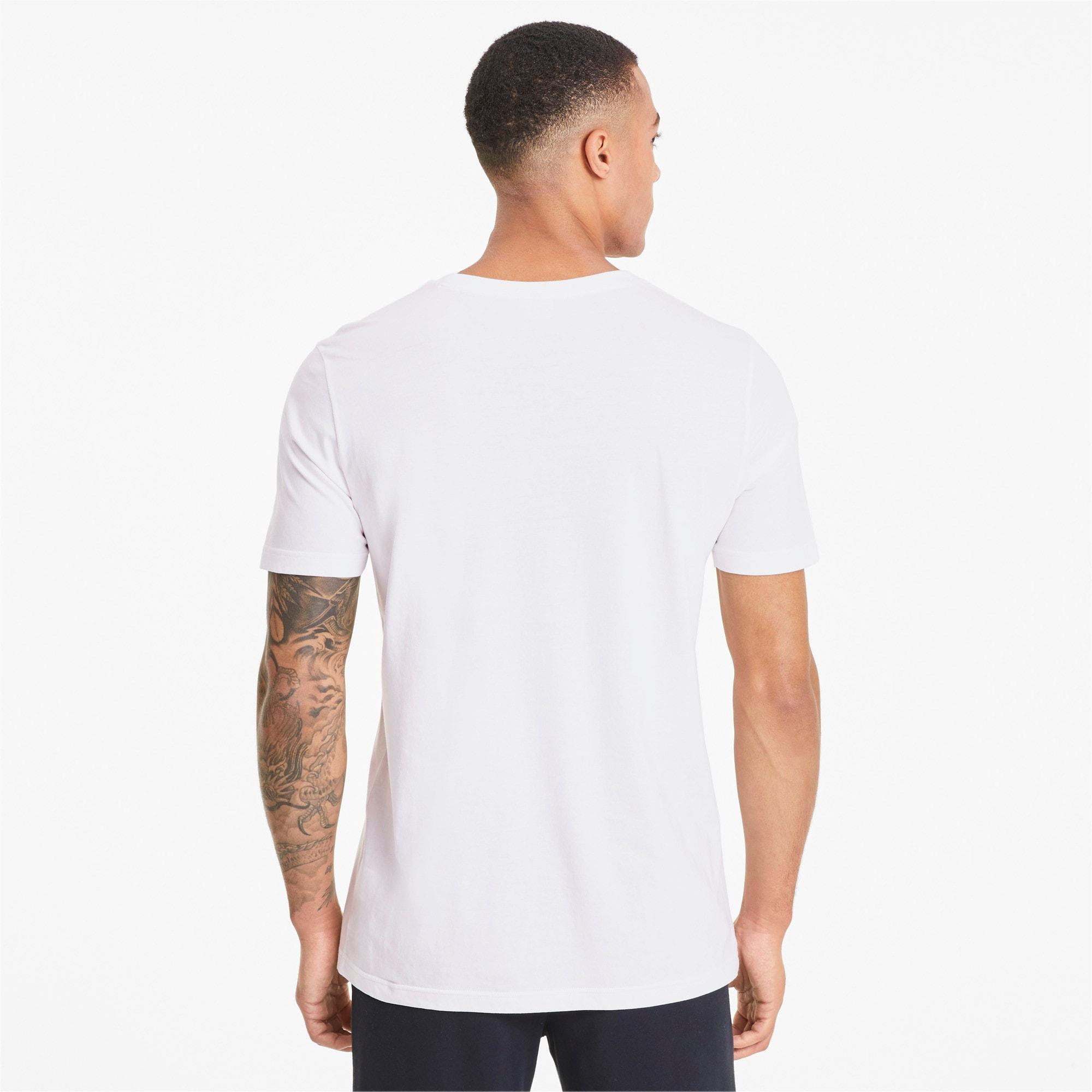 Thumbnail 2 van Classics T-shirt met logo voor mannen, Puma White, medium