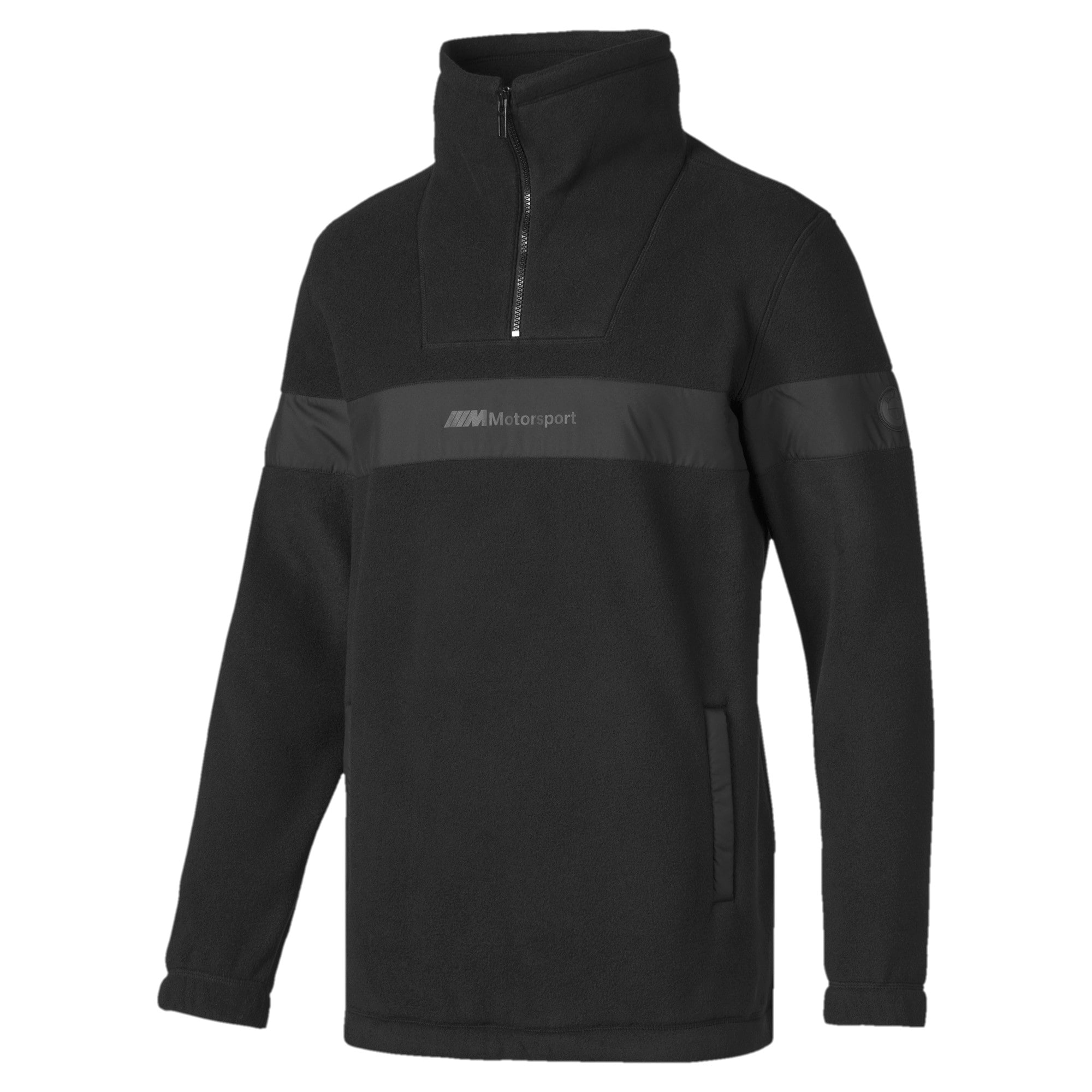 Thumbnail 5 of Pull BMW Motorsport Fleece Half Zip pour homme, Puma Black, medium