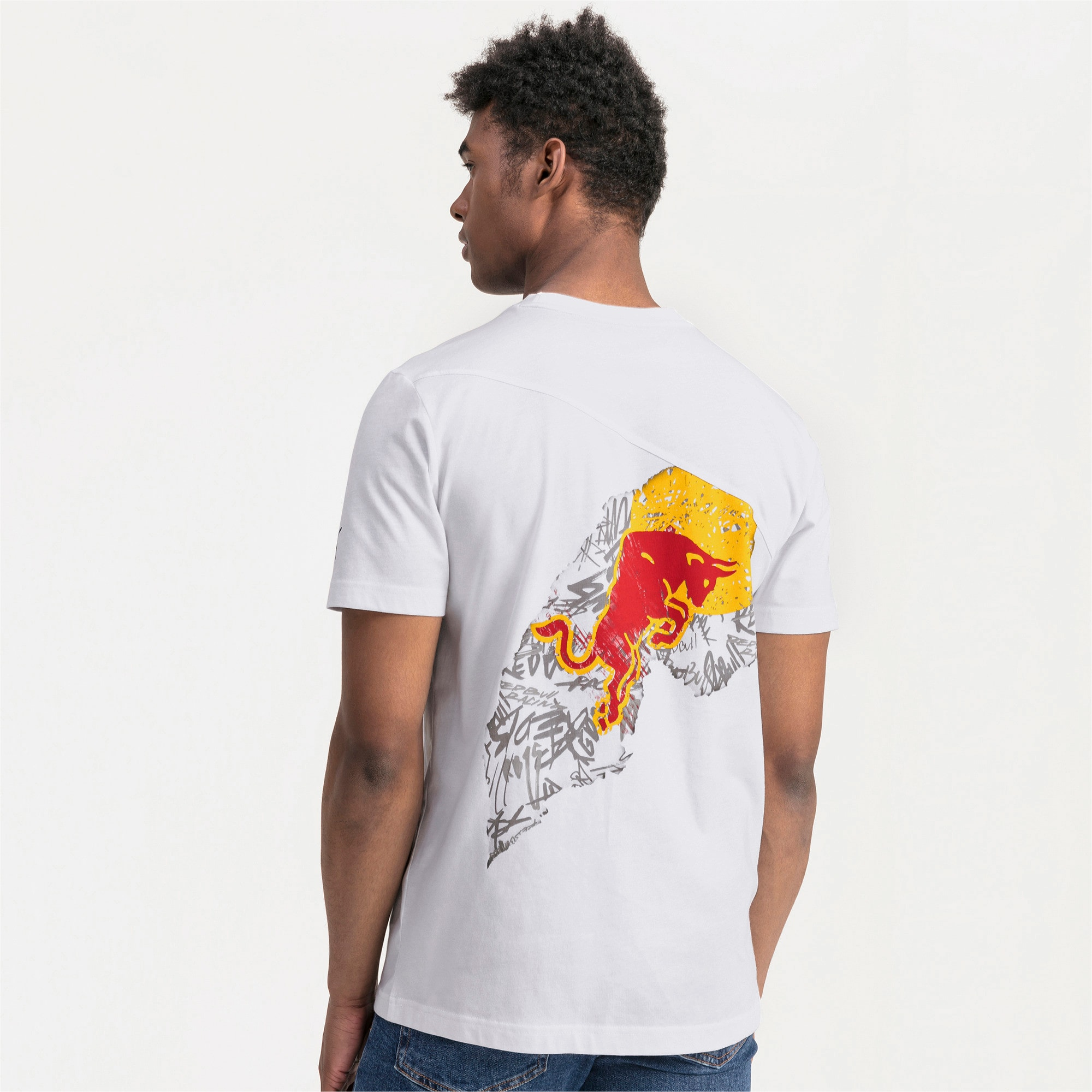 Thumbnail 2 of Red Bull Racing Dynamic Bull Herren T-Shirt, Puma White, medium
