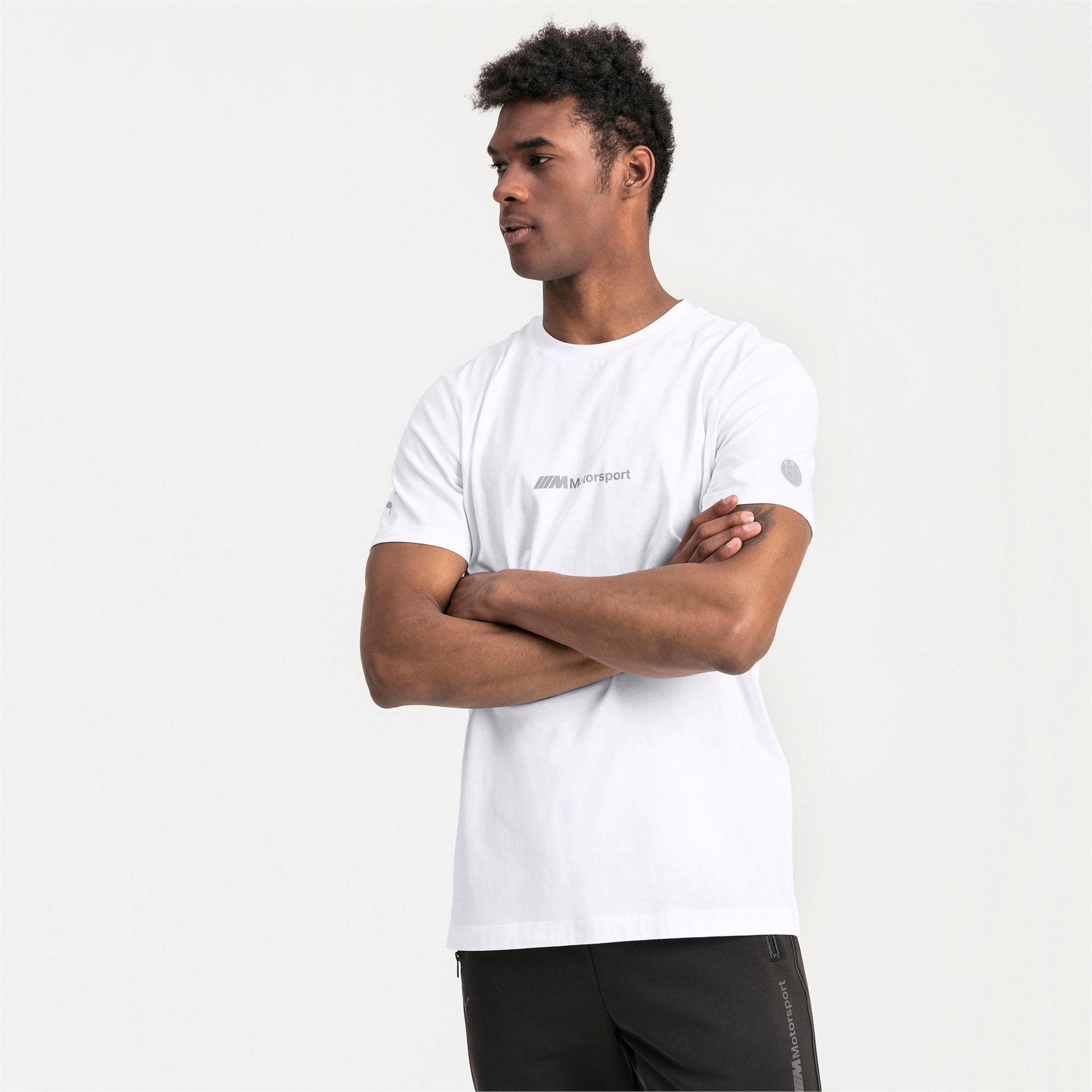 Thumbnail 1 of BMW Motorsport Life T-shirt voor heren, Puma White, medium