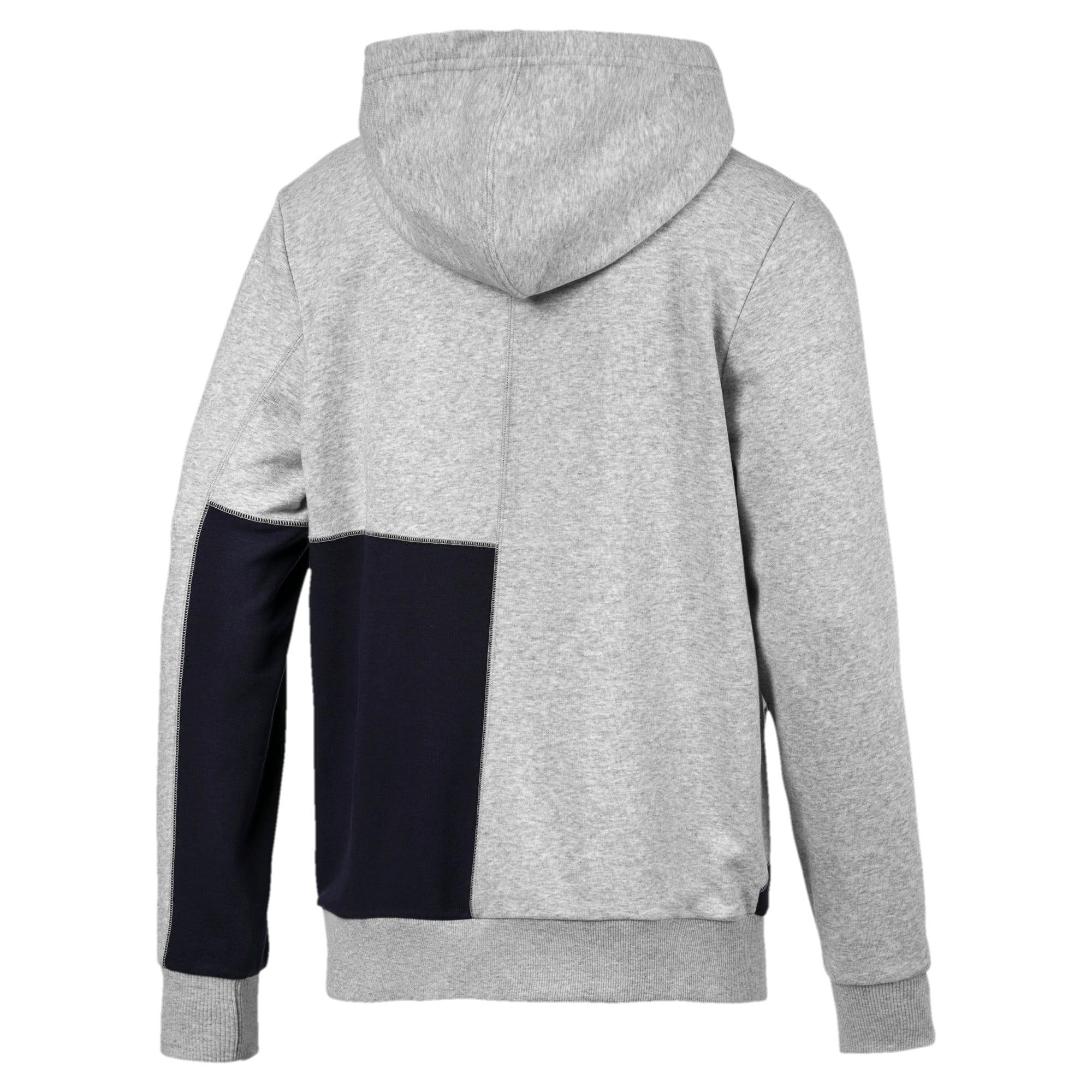 Thumbnail 6 of RBR Logo Hooded Men's Sweat Jacket, Light Gray Heather, medium