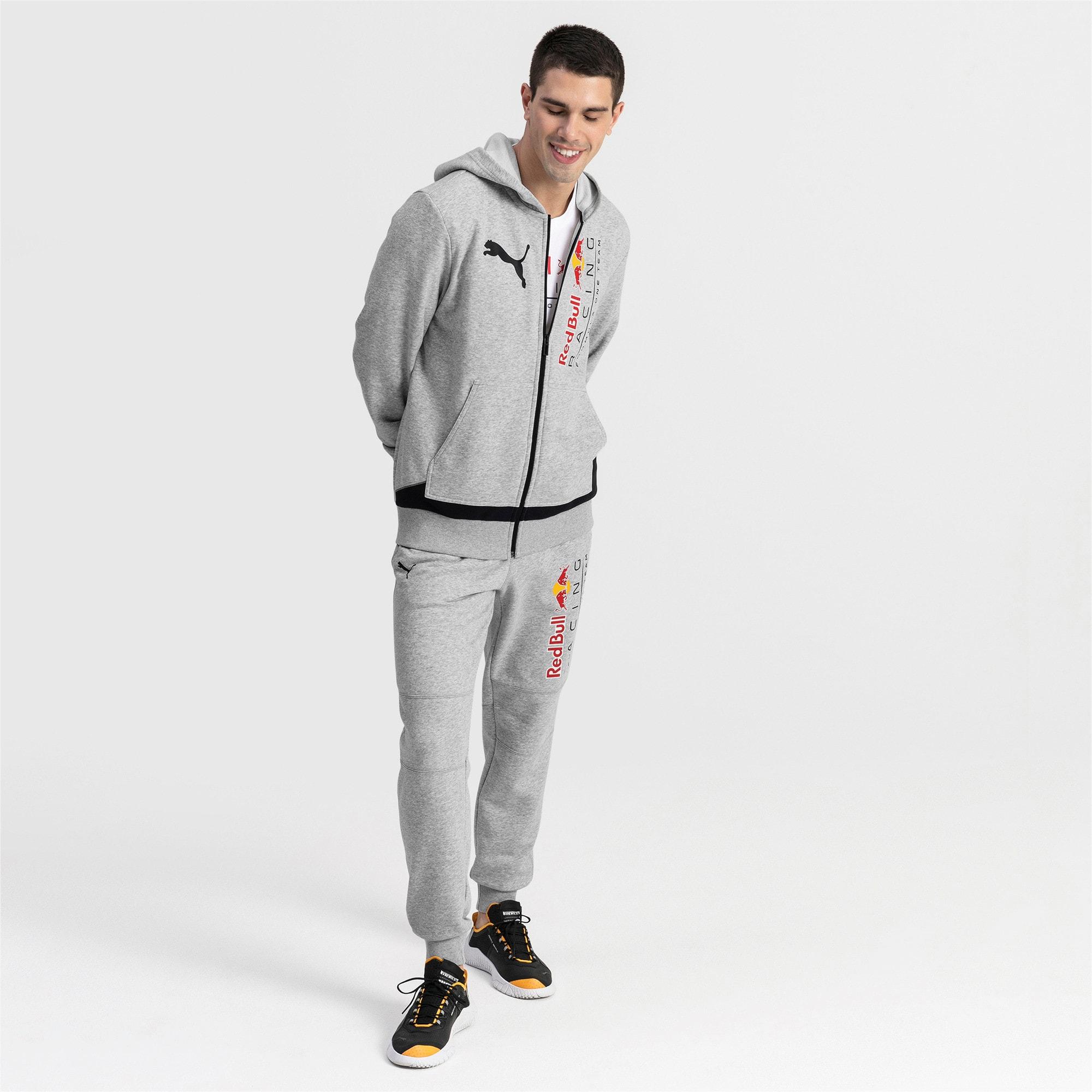 Thumbnail 3 of RBR Logo Hooded Men's Sweat Jacket, Light Gray Heather, medium