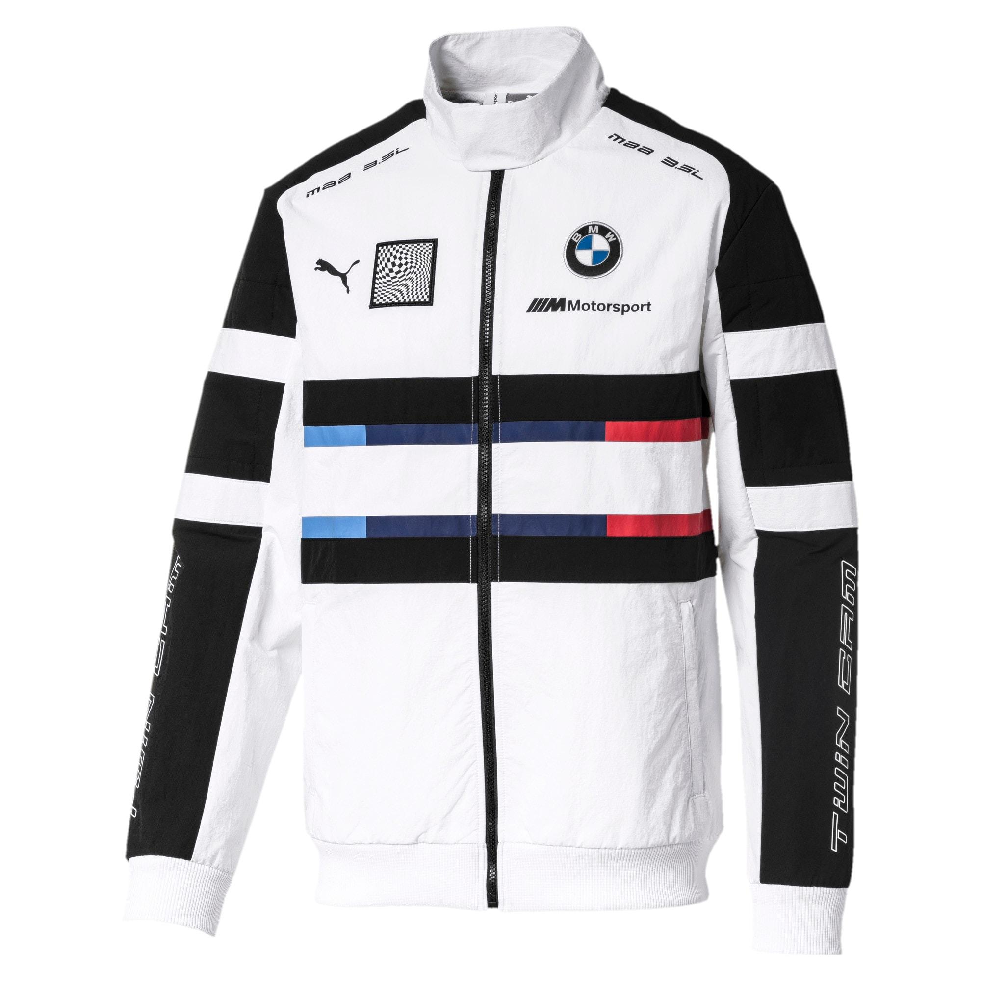 Thumbnail 1 of Geweven BMW Motorsport street-jack voor heren, Puma White, medium