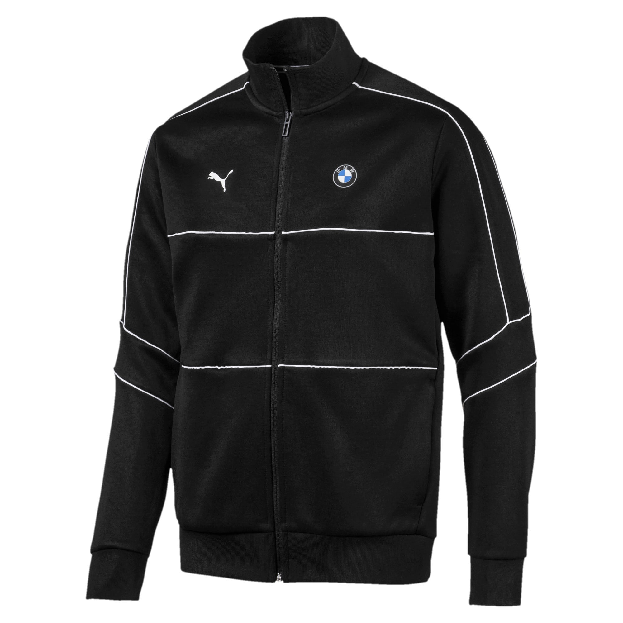 Thumbnail 4 of BMW M Motorsports T7 Track Men's Jacket, Puma Black, medium