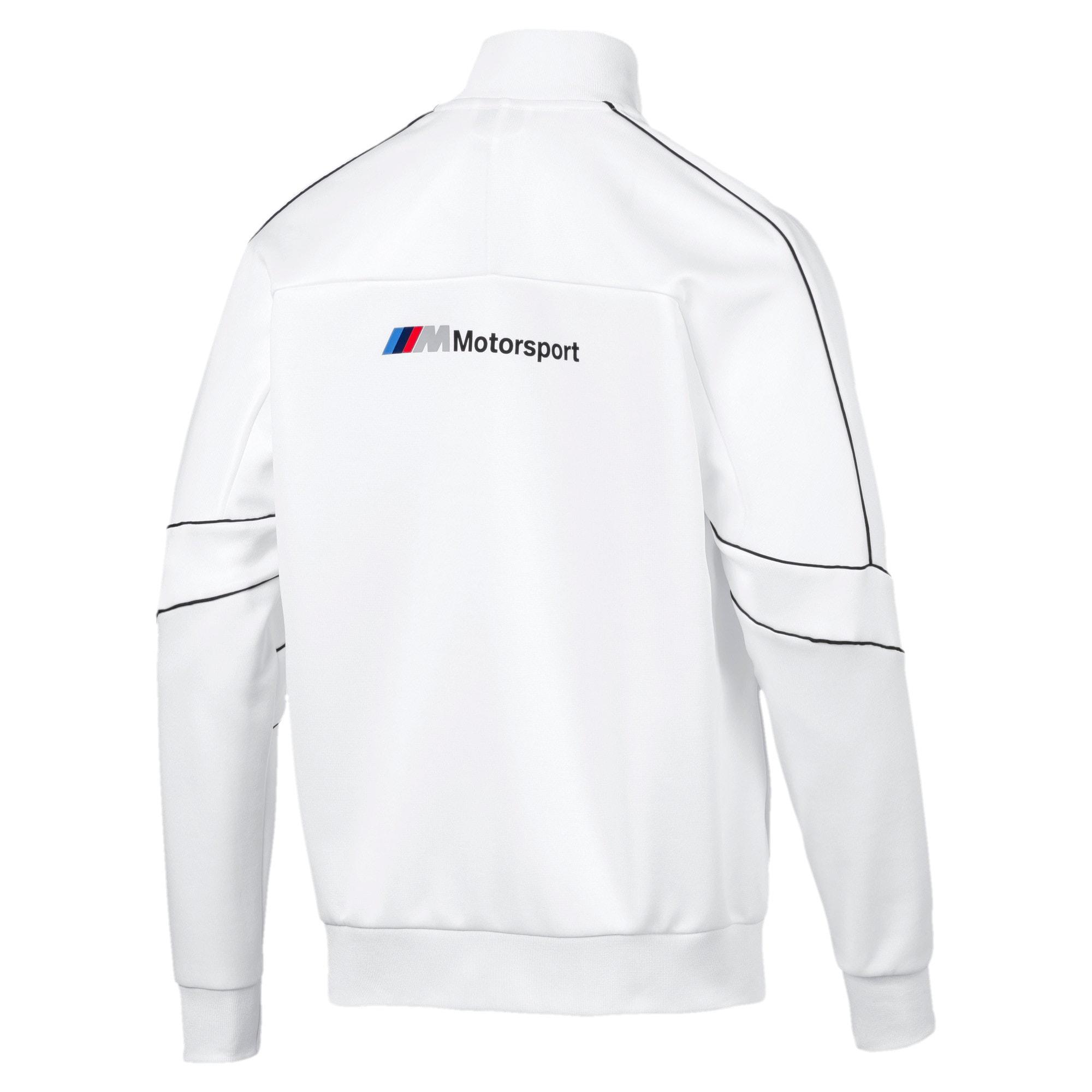 Thumbnail 6 of BMW M Motorsports T7 Track Men's Jacket, Puma White, medium