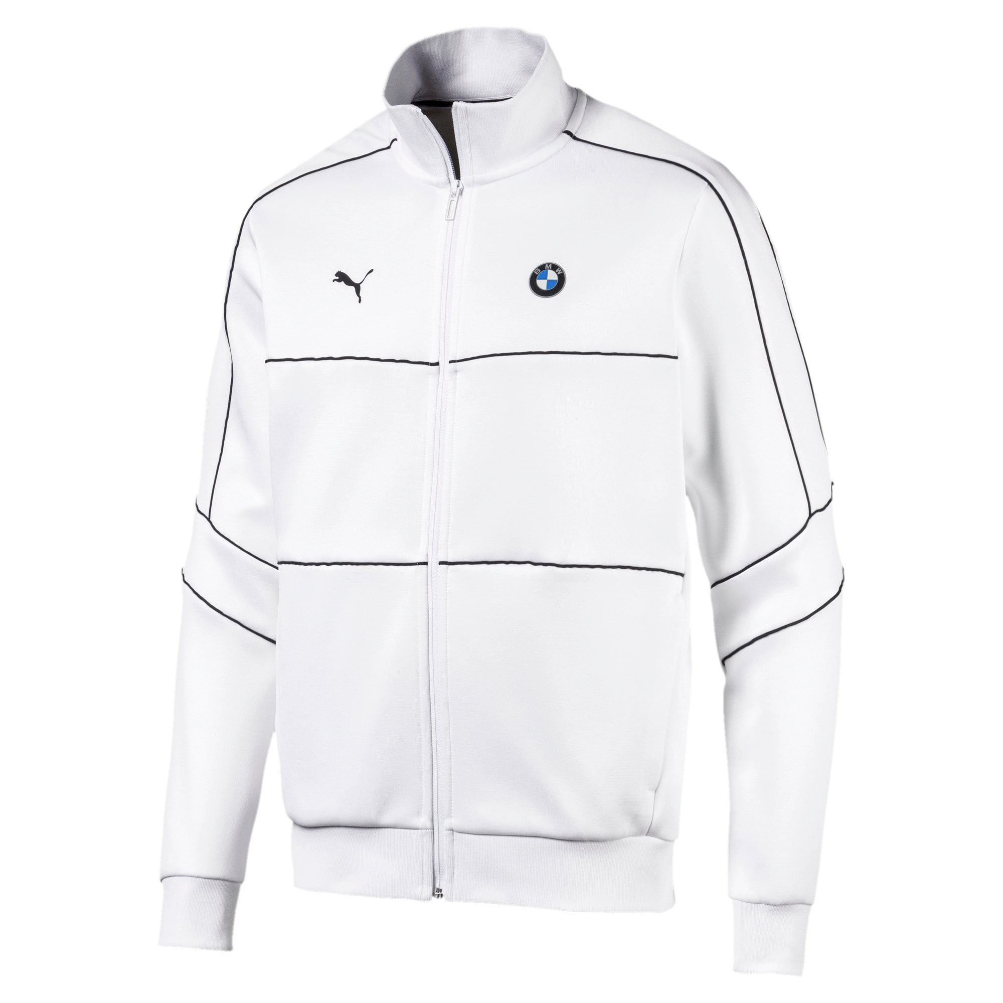 Thumbnail 5 of BMW M Motorsports T7 Track Men's Jacket, Puma White, medium