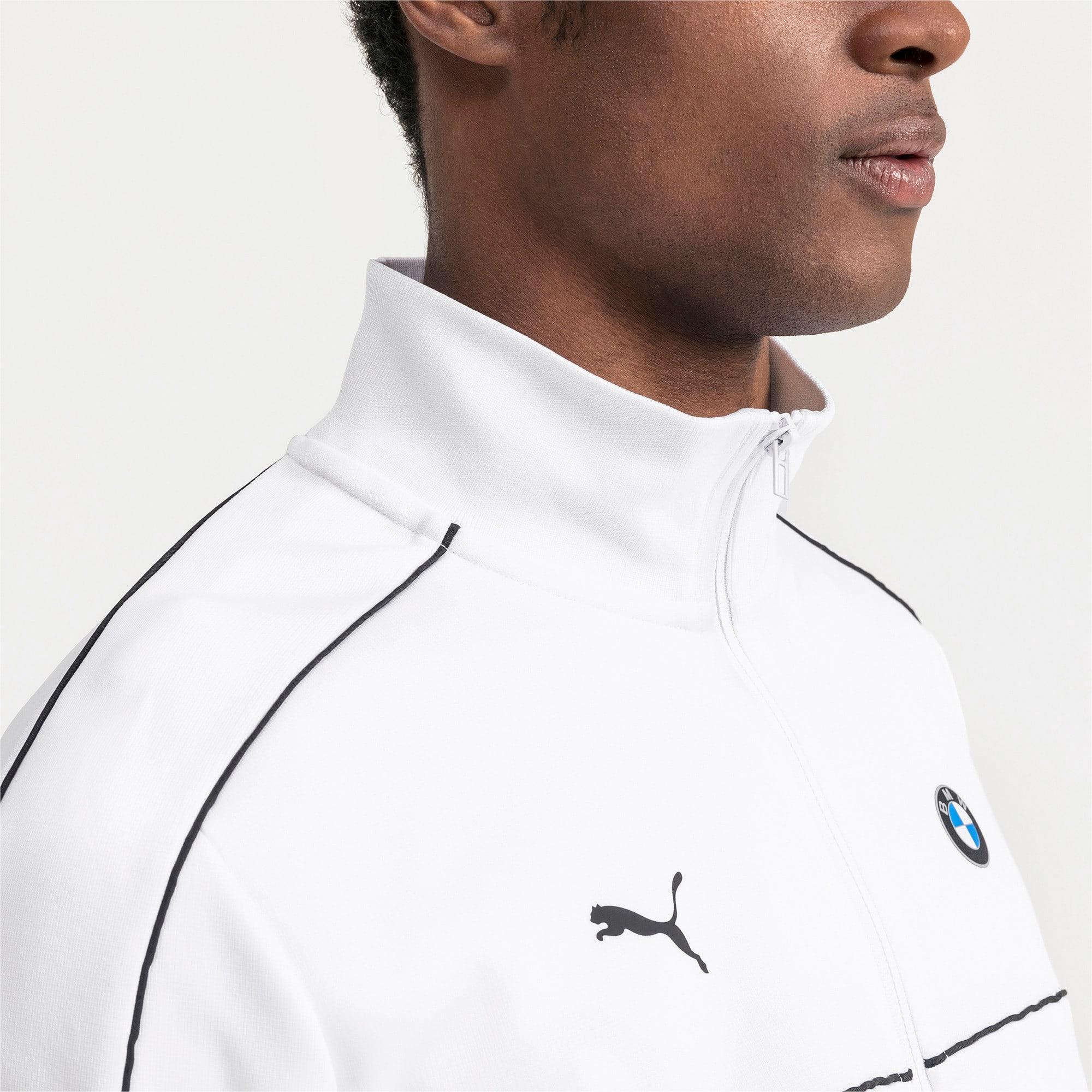 Thumbnail 4 of BMW M Motorsports T7 trainingsjack voor heren, Puma White, medium