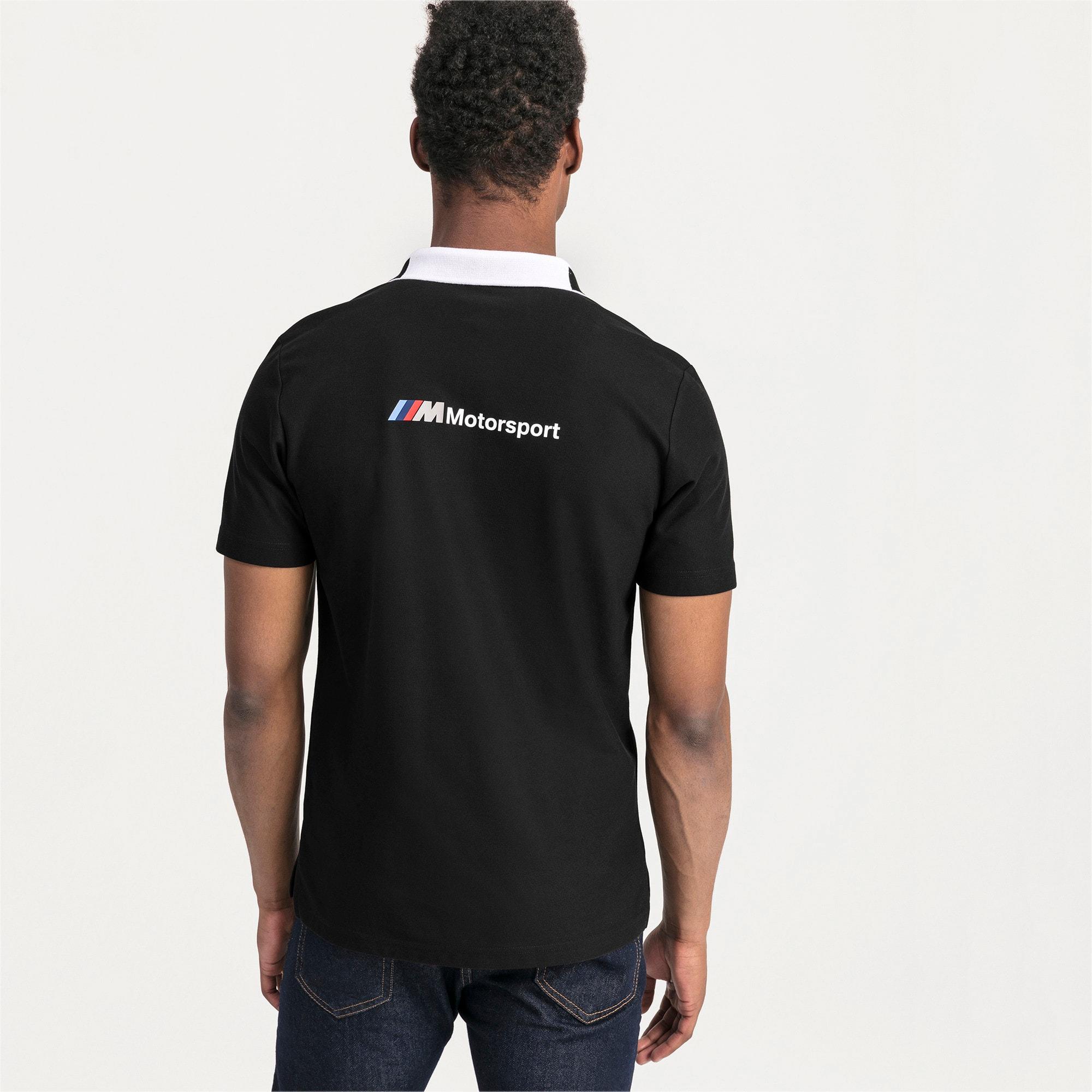 Thumbnail 2 van BMW M Motorsport poloshirt voor mannen, Puma Black, medium