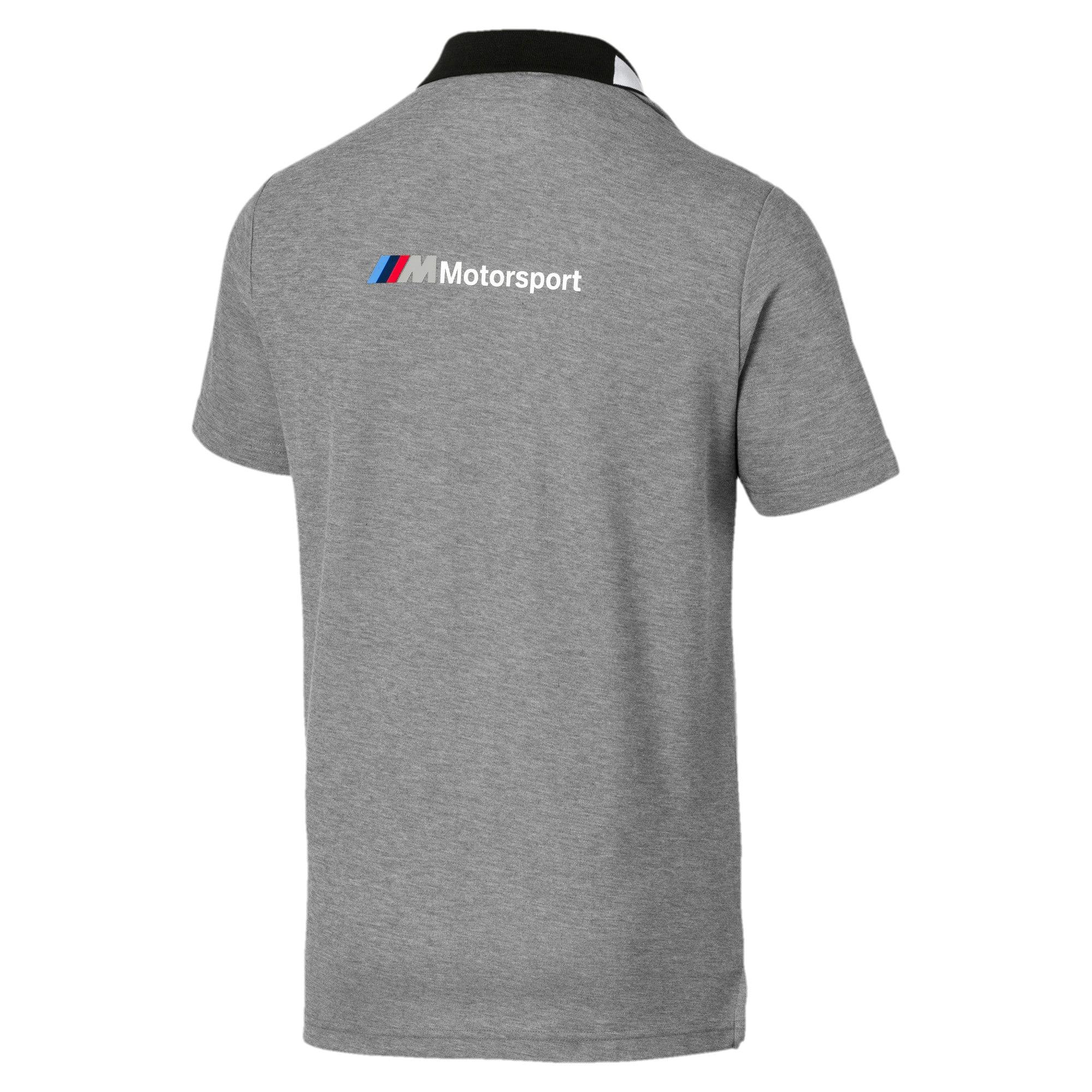 Miniatura 5 de Camiseta tipo polo BMW M Motorsport para hombre, Medium Gray Heather, mediano