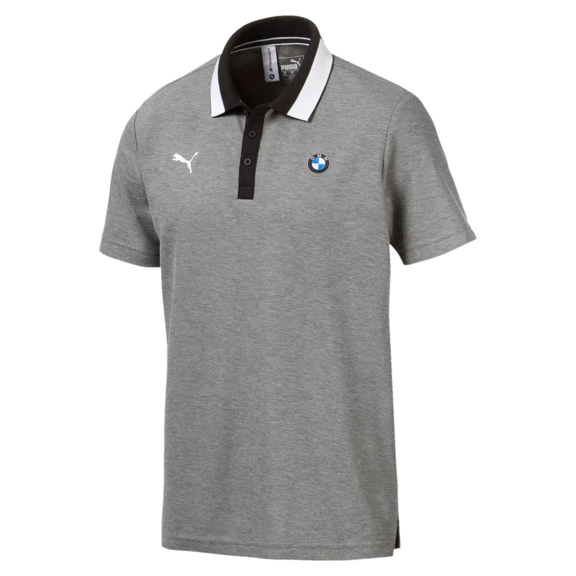 Miniatura 4 de Camiseta tipo polo BMW M Motorsport para hombre, Medium Gray Heather, mediano