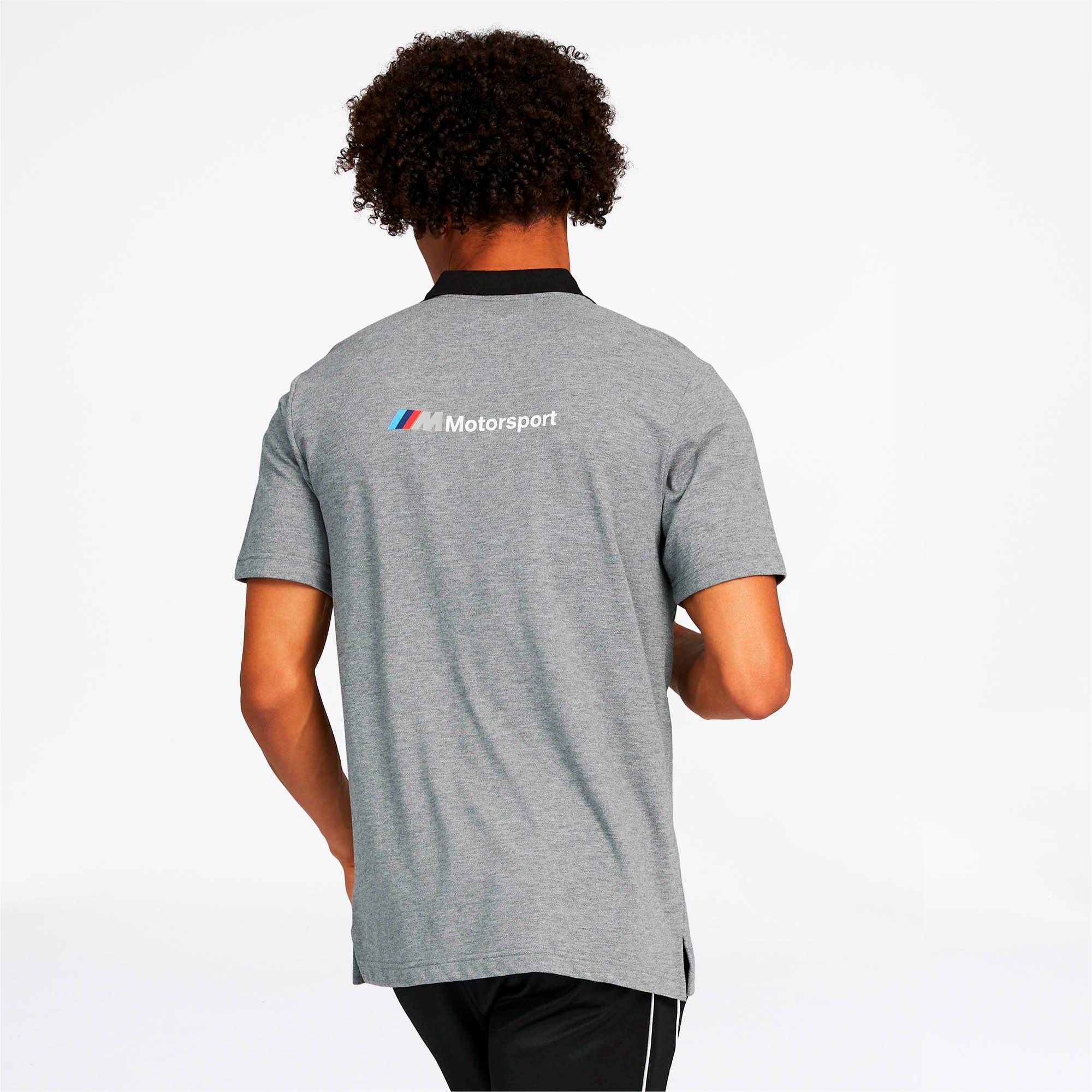 Miniatura 2 de Camiseta tipo polo BMW M Motorsport para hombre, Medium Gray Heather, mediano