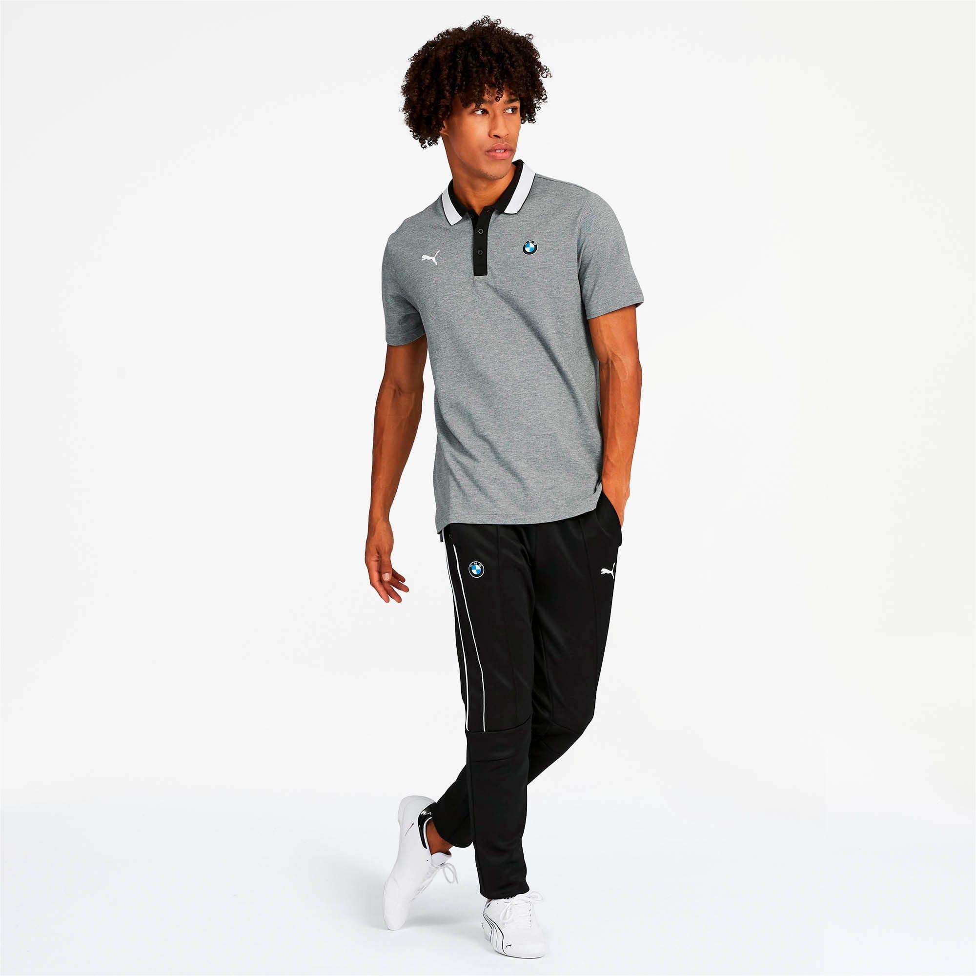 Miniatura 3 de Camiseta tipo polo BMW M Motorsport para hombre, Medium Gray Heather, mediano