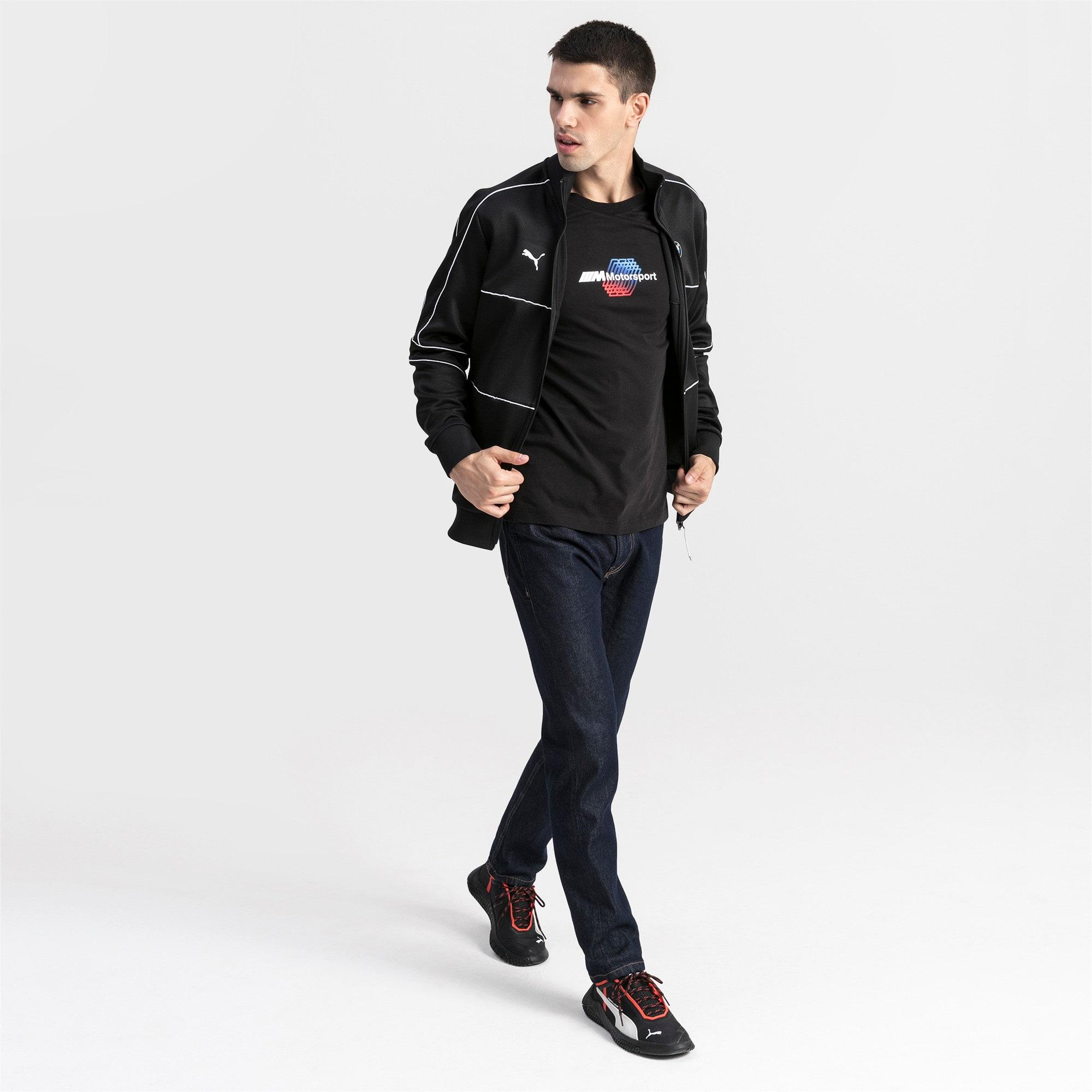 Thumbnail 3 van BMW M Motorsports logo-T-shirt voor mannen, Puma Black, medium