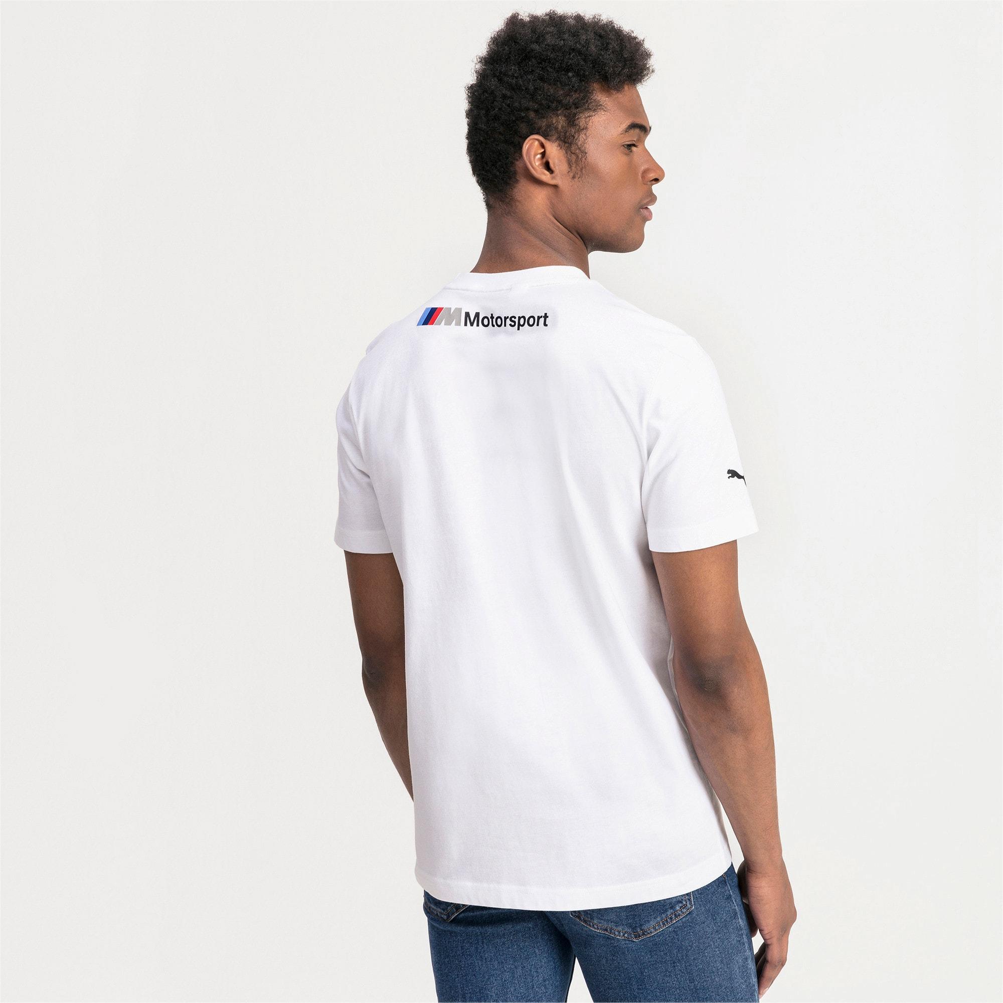 Thumbnail 2 of BMW M Motorsports logo-T-shirt voor heren, Puma White, medium
