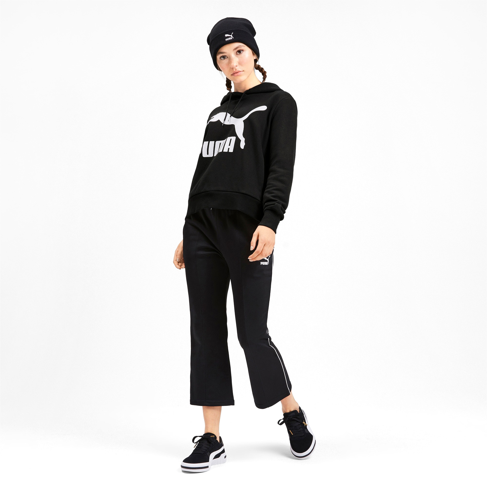 Thumbnail 4 of Sweat à capuche Classics Logo pour femme, Puma Black, medium