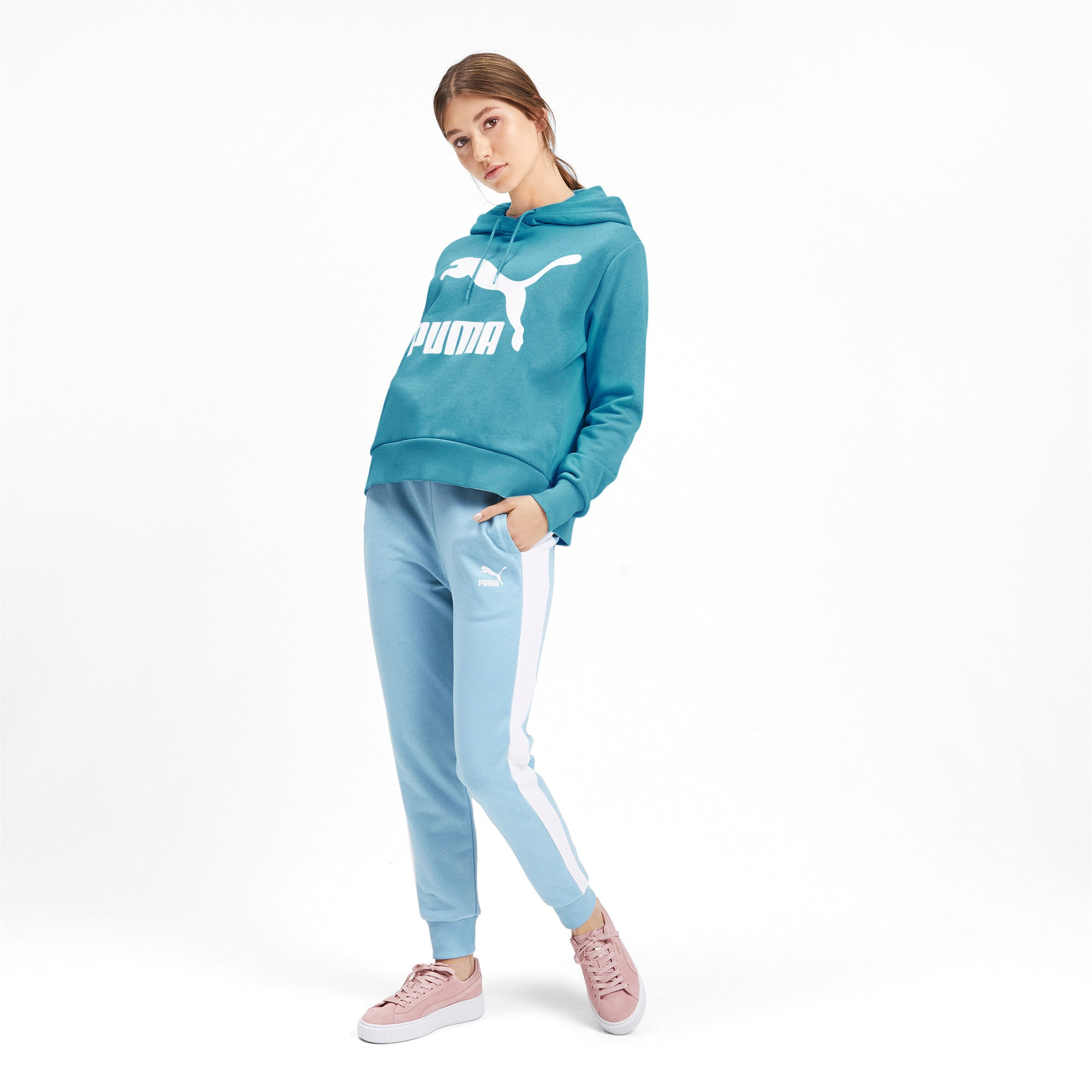 Thumbnail 4 of Classics Women's Logo Hoodie, Milky Blue, medium