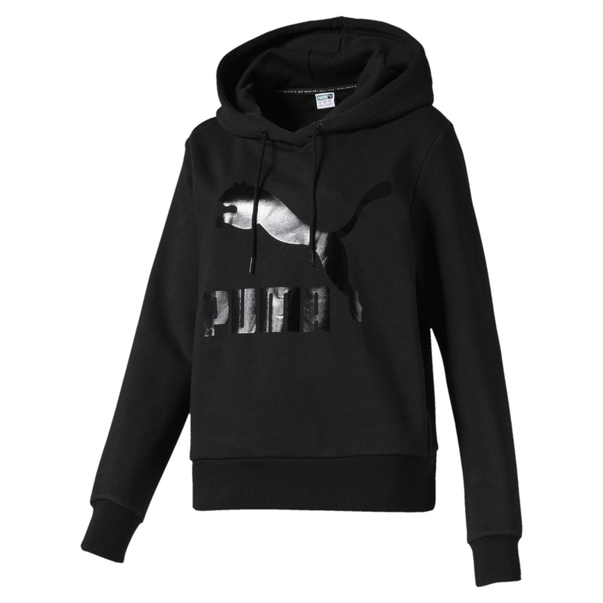 Thumbnail 1 of Classics Logo hoodie voor dames, Puma Black, medium