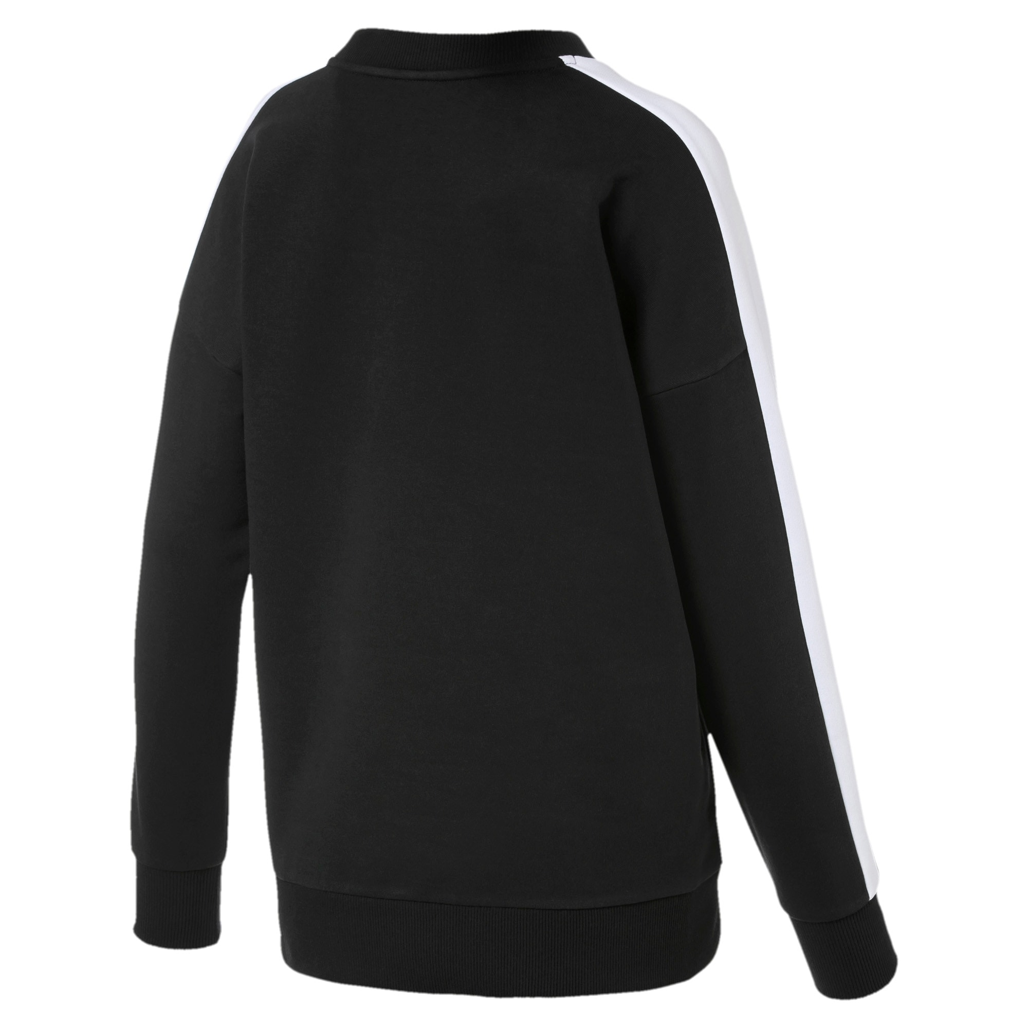 Thumbnail 5 of Classics T7 Women's Crewneck Sweatshirt, Puma Black, medium