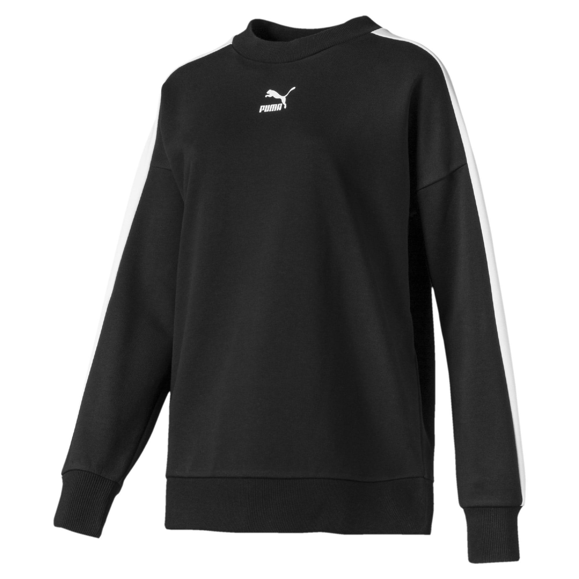 Thumbnail 1 of Classics T7 Women's Crewneck Sweatshirt, Puma Black, medium