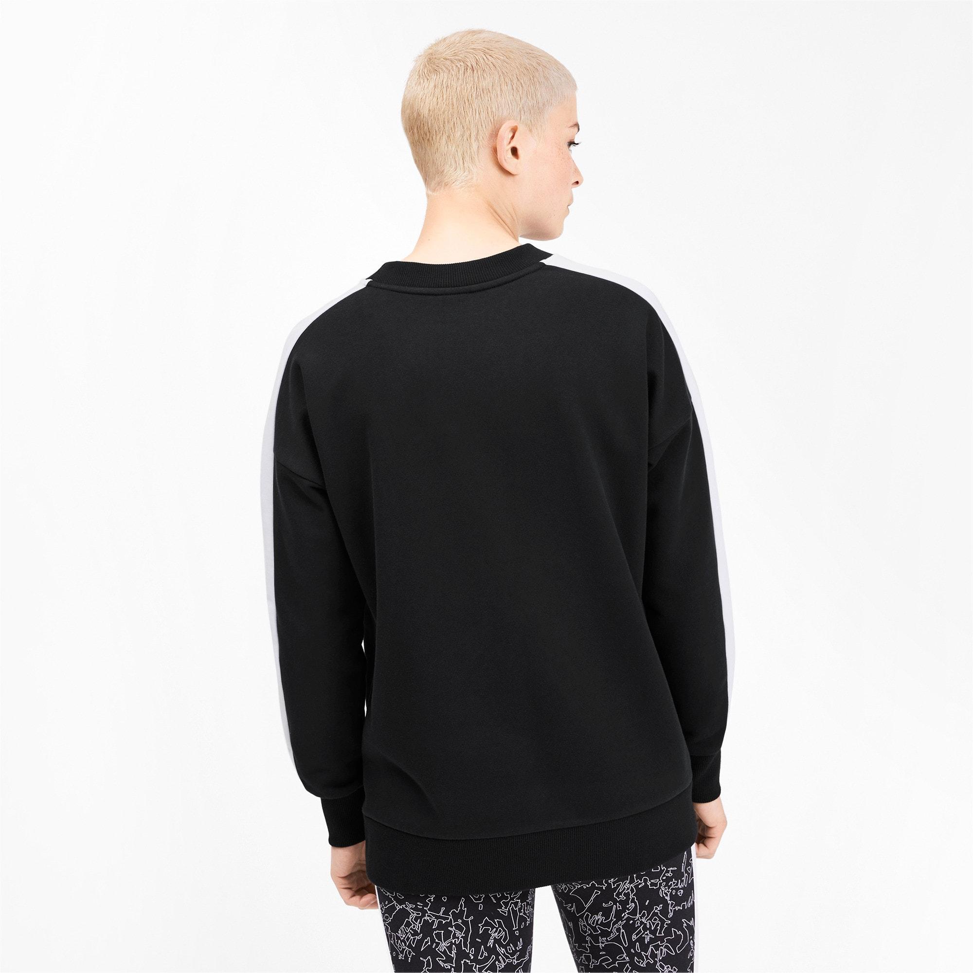 Thumbnail 3 of Classics T7 Women's Crewneck Sweatshirt, Puma Black, medium