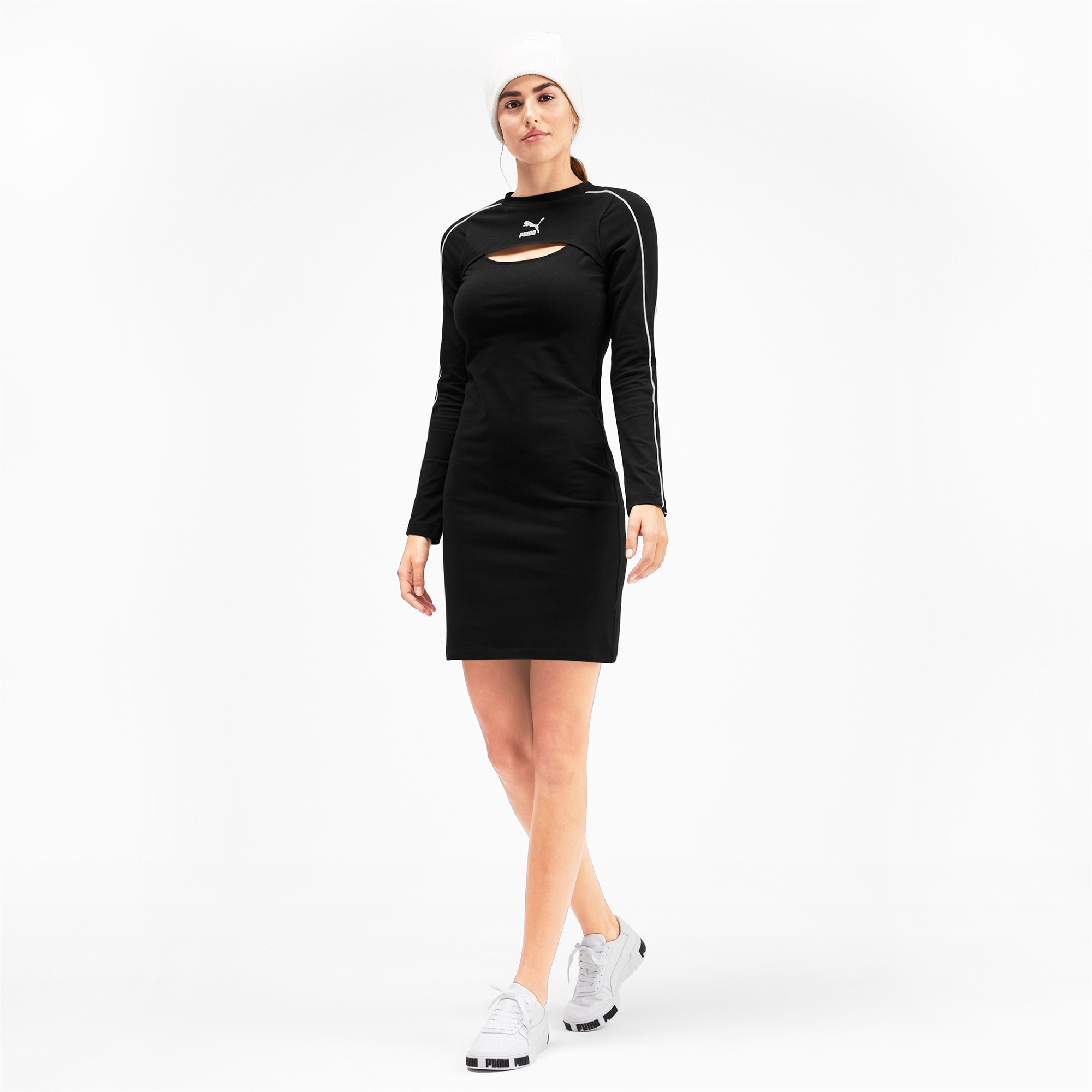 Thumbnail 3 van Classics jurk voor vrouwen, Puma Black, medium
