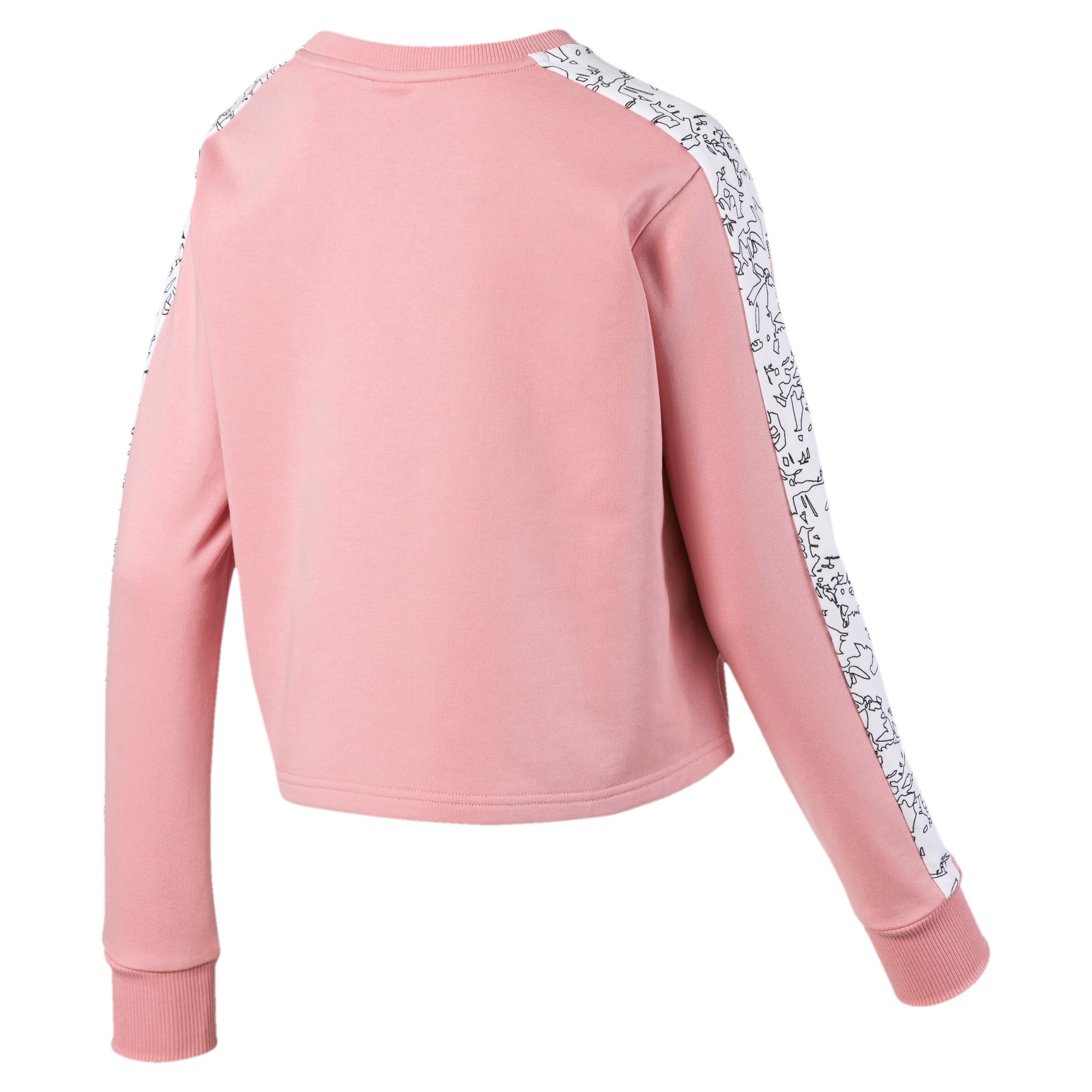 Thumbnail 5 of Classics Women's AOP Logo Crewneck Sweatshirt, Bridal Rose, medium