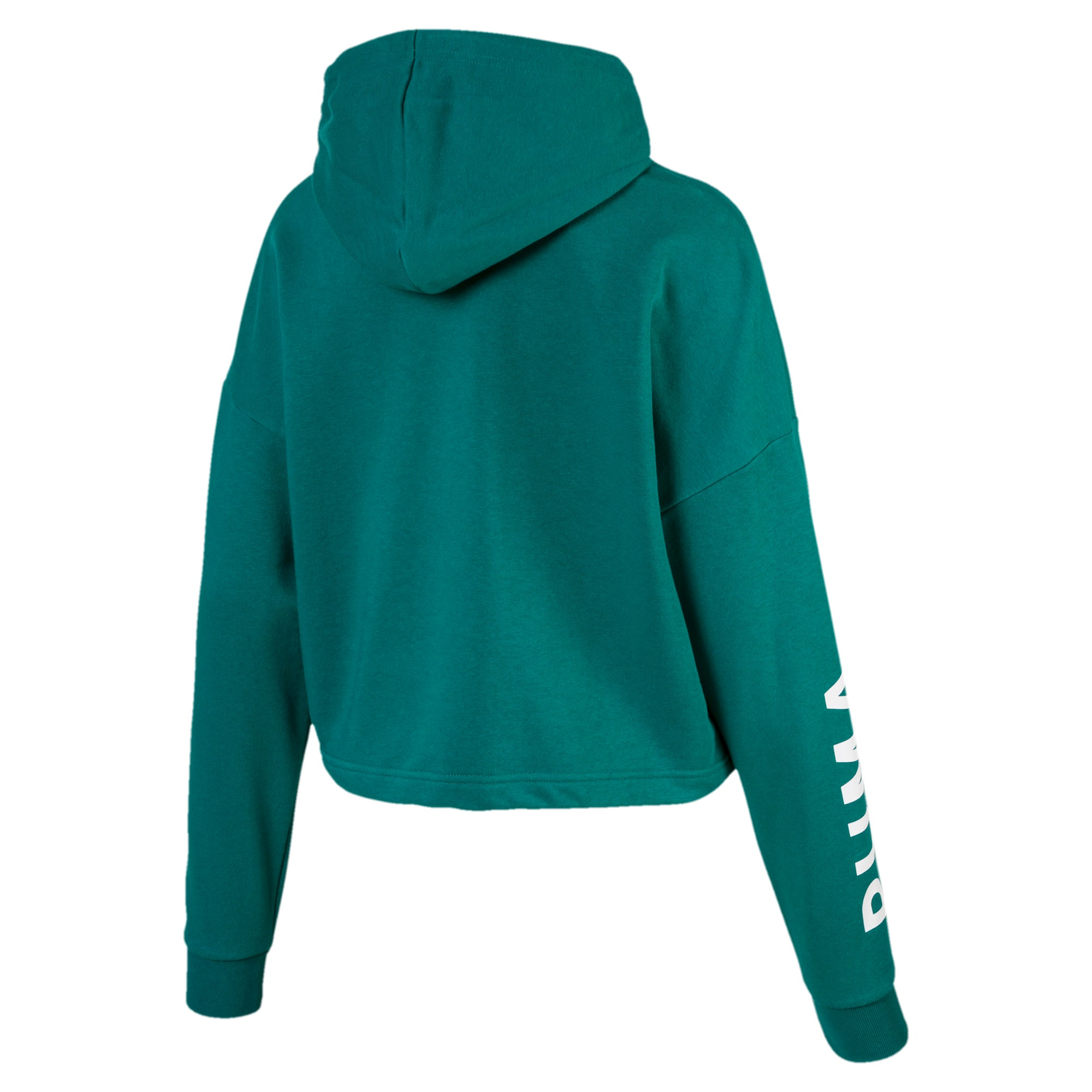 Thumbnail 5 of Chase Women's Cropped Hoodie, Teal Green, medium