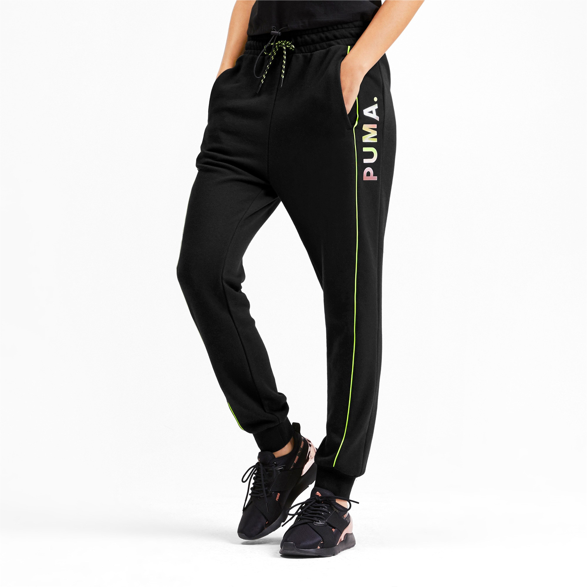 Thumbnail 1 of Chase Damen Sweatpants, Puma Black, medium