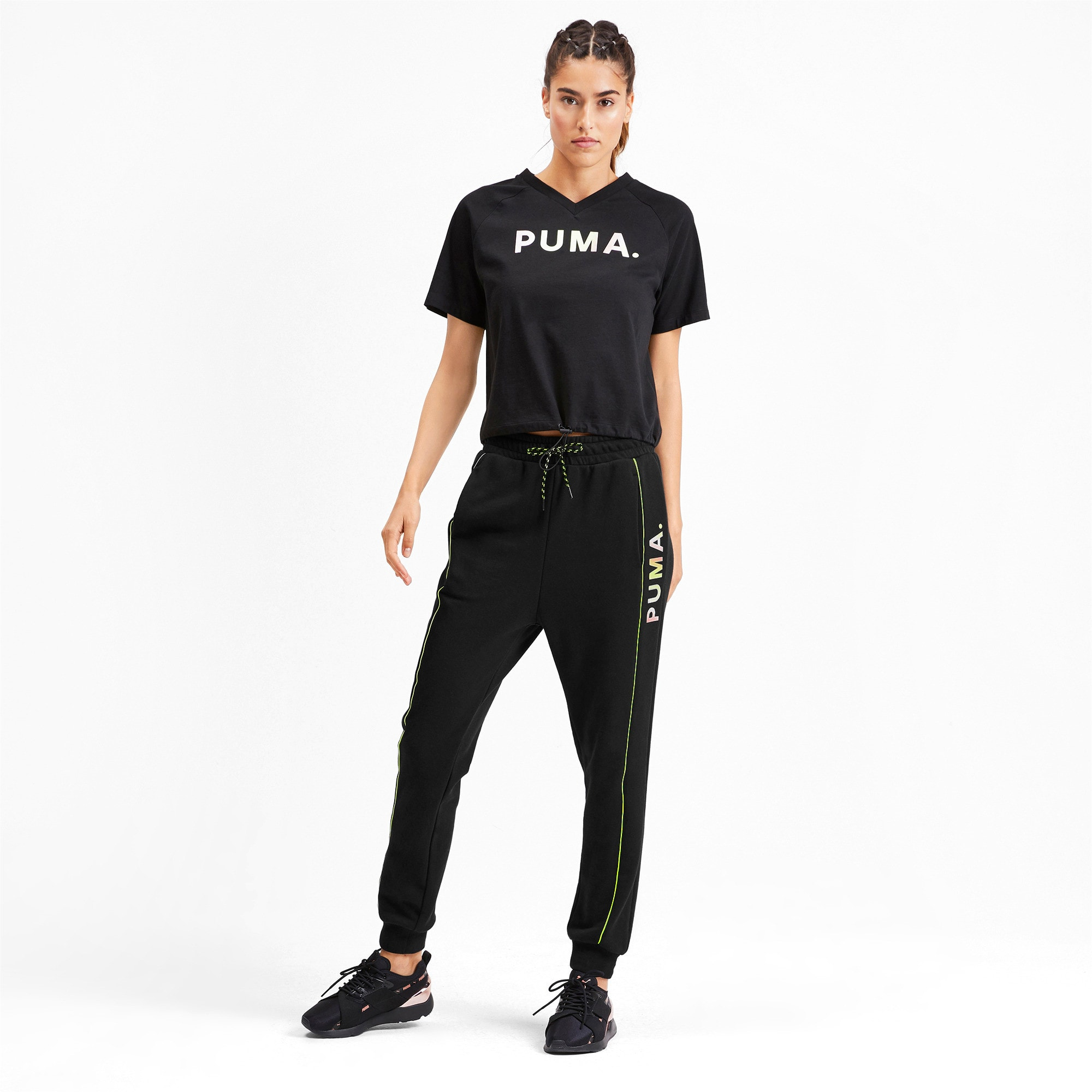 Thumbnail 3 of Chase Damen Sweatpants, Puma Black, medium