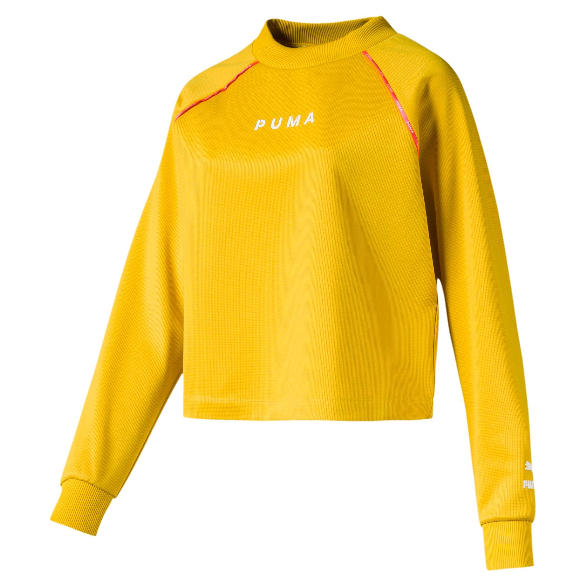 Thumbnail 1 of PUMA XTG Women's Crewneck Sweatshirt, Sulphur, medium