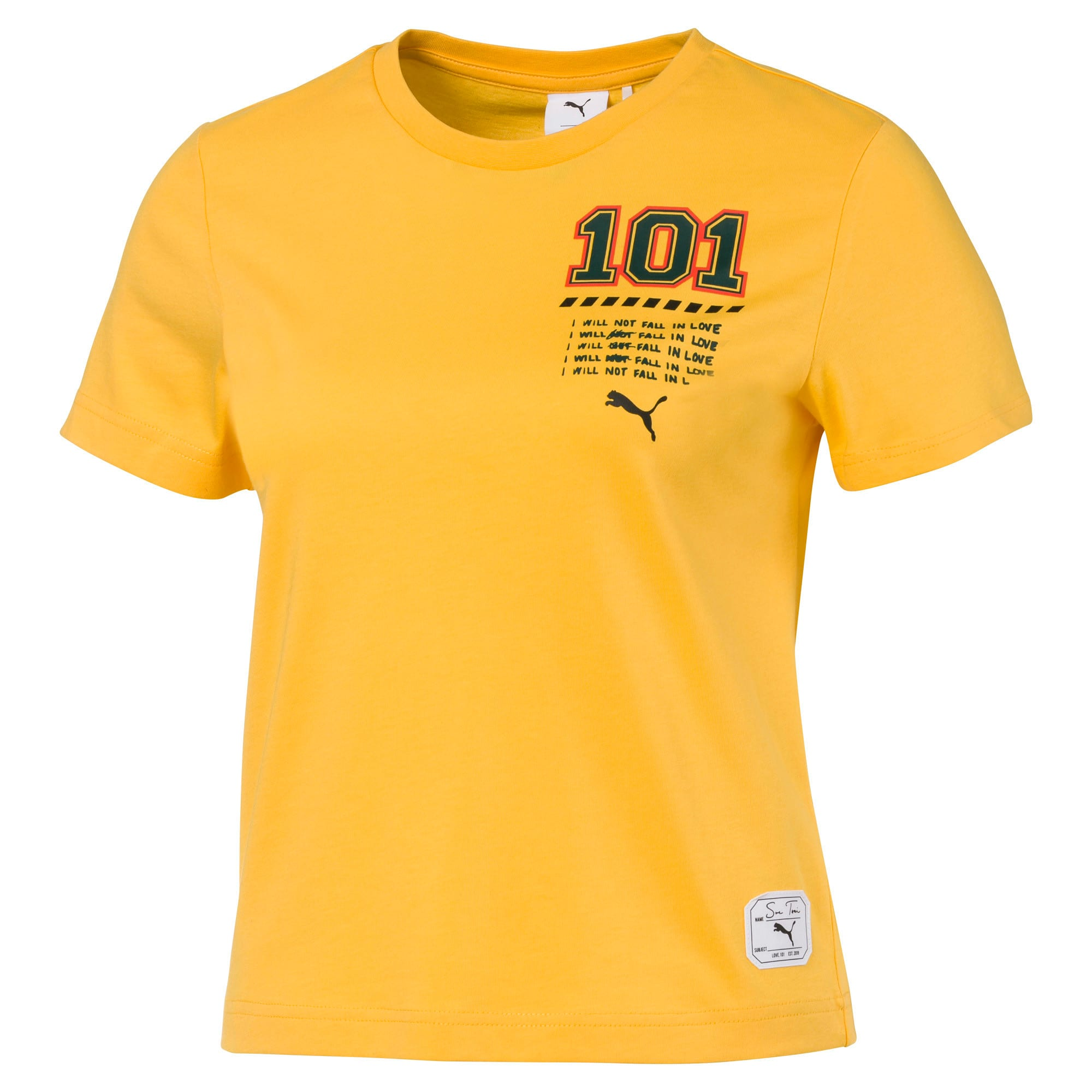 Thumbnail 1 of PUMA x SUE TSAI Cropped Women's Tee, Daffodil, medium