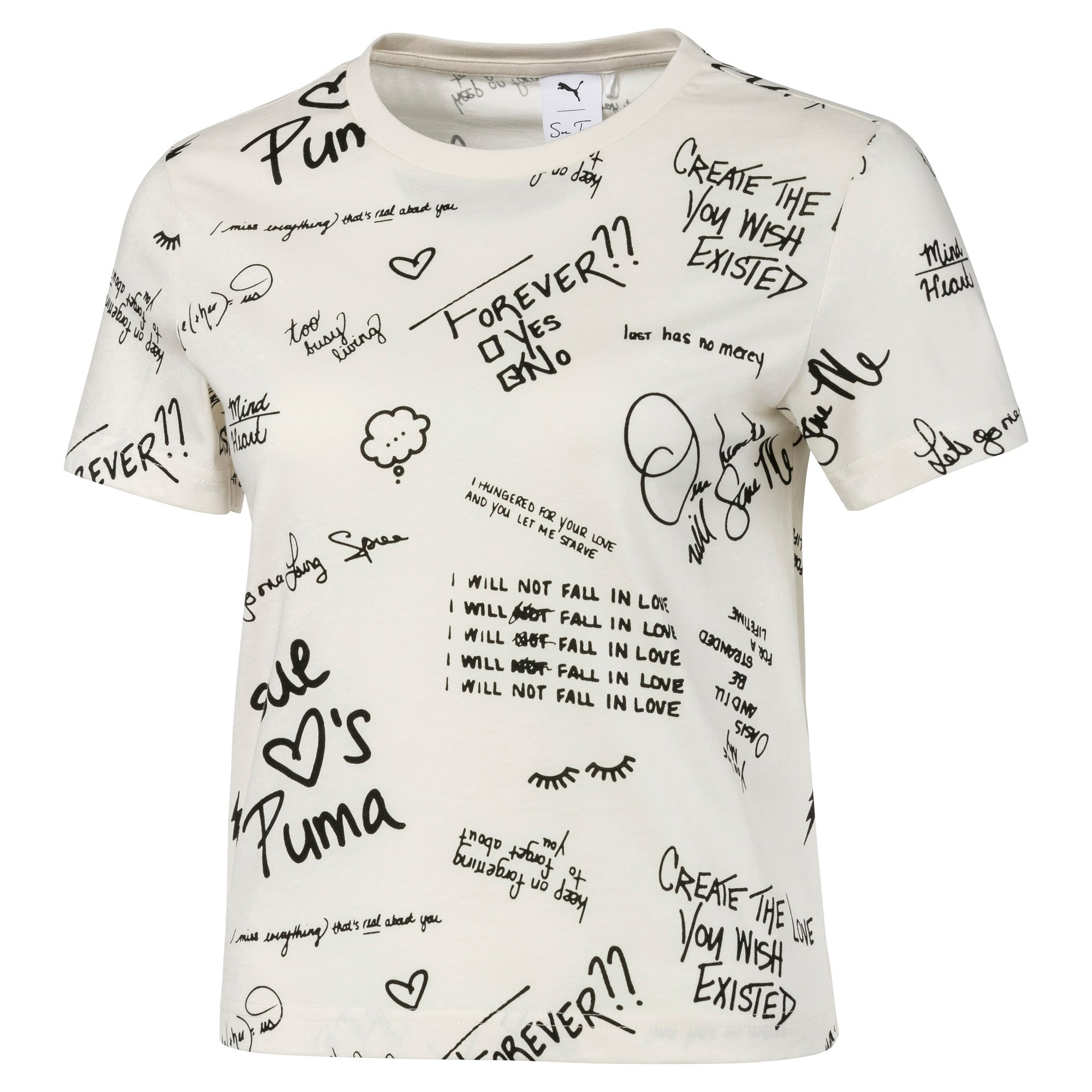 Thumbnail 1 of PUMA x SUE TSAI Women's AOP Tee, Whisper White, medium