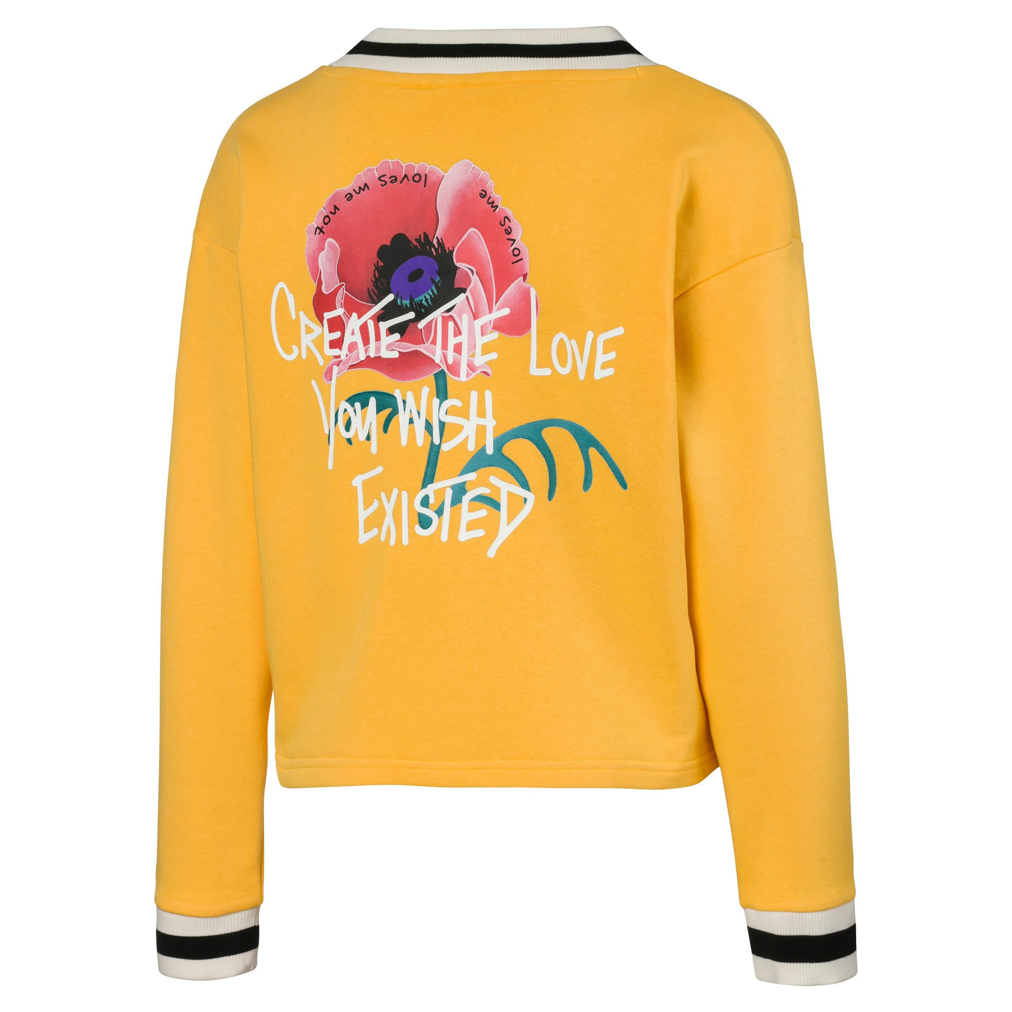 Thumbnail 2 of Sweatshirt tricoté PUMA x SUE TSAI V-Neck, Daffodil, medium