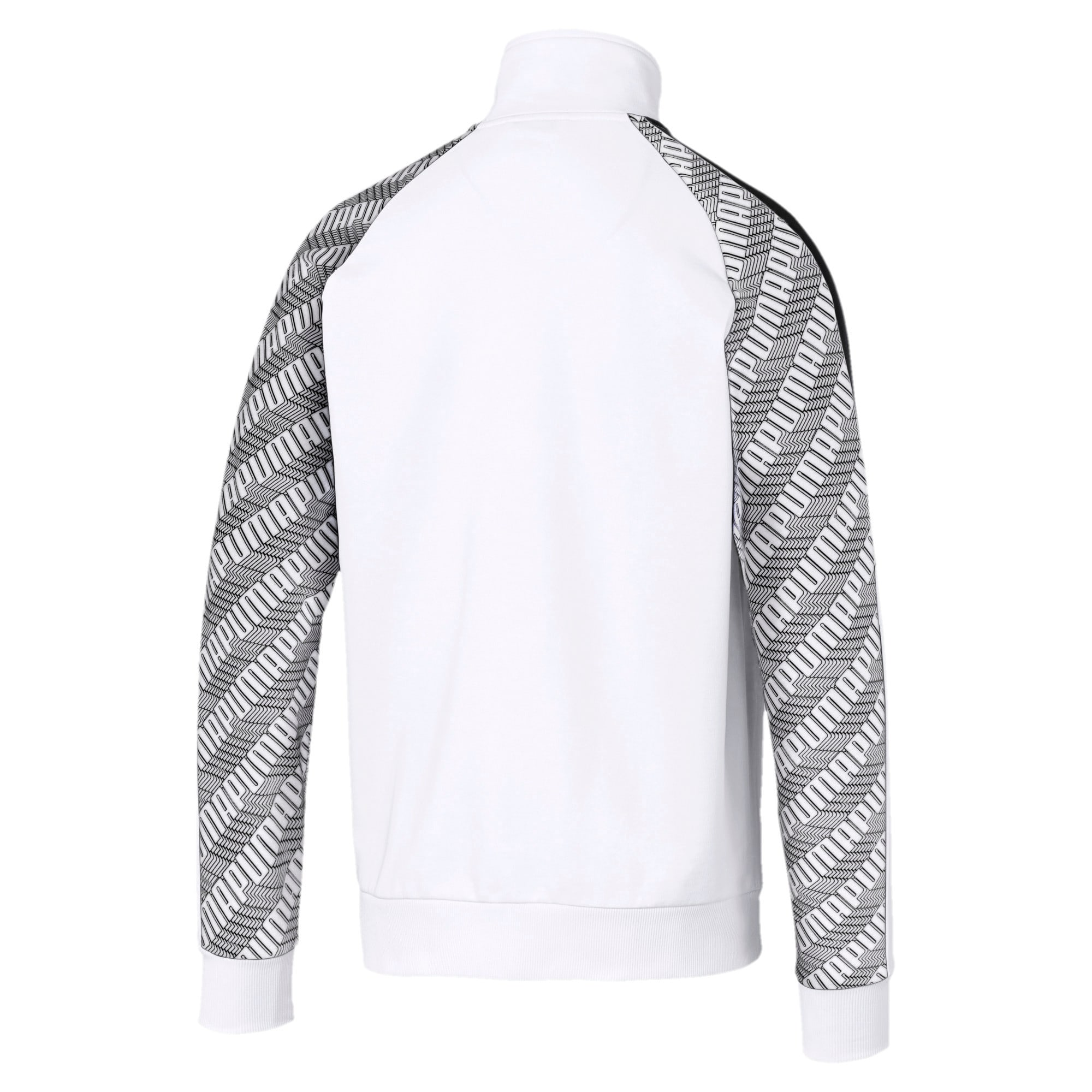 Thumbnail 2 of T7 All-Over Printed Men's Track Jacket, Puma White-Repeat logo, medium-IND