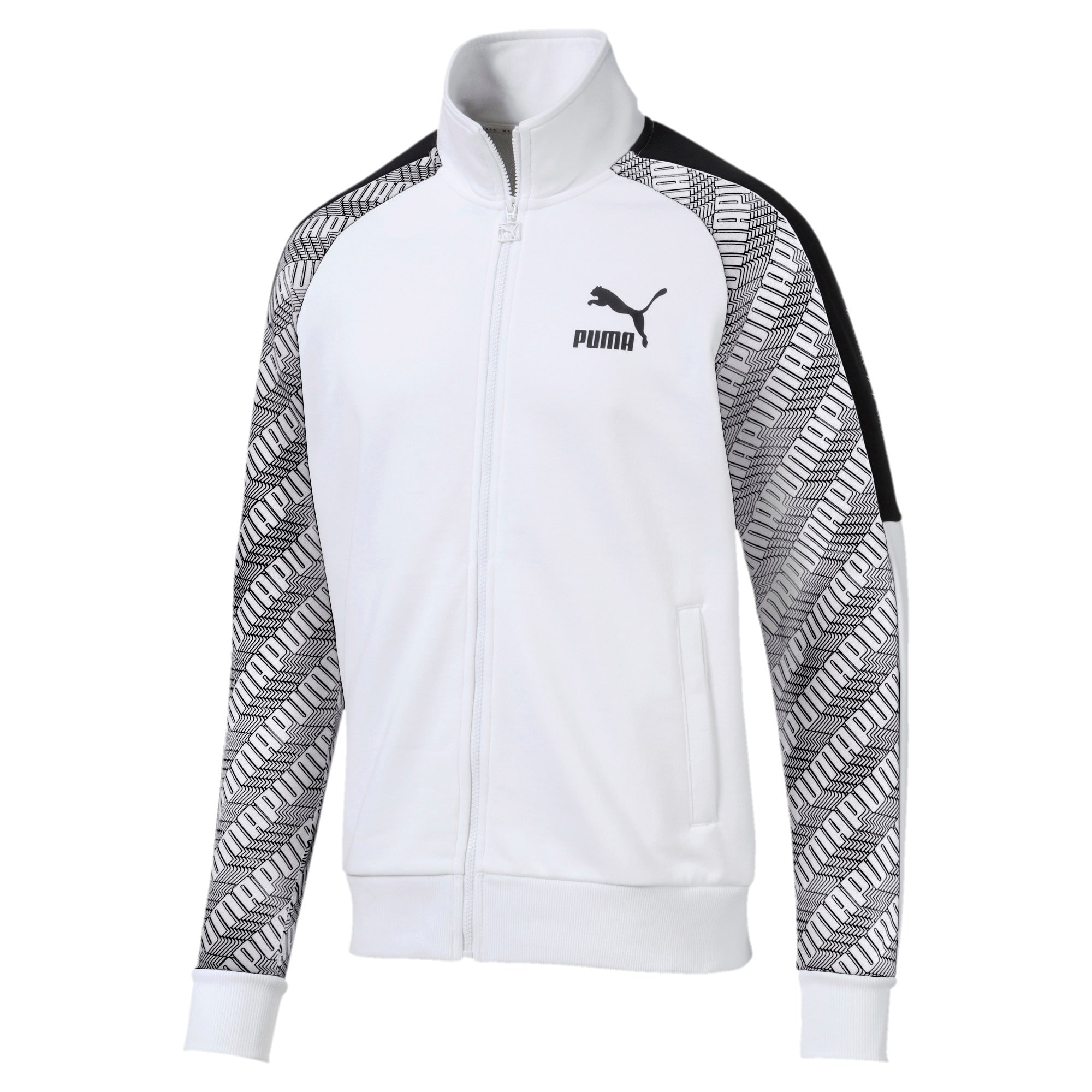 Thumbnail 1 of T7 All-Over Printed Men's Track Jacket, Puma White-Repeat logo, medium-IND