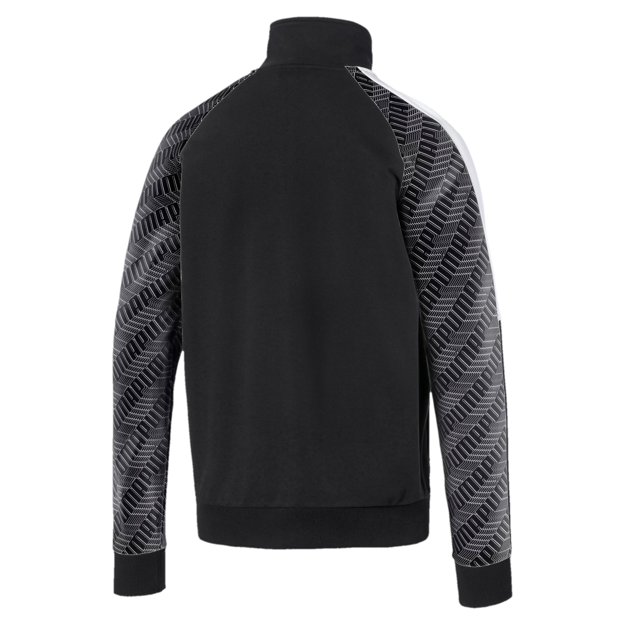 Thumbnail 2 of T7 All-Over Printed Men's Track Jacket, Puma Black-Repeat logo, medium-IND