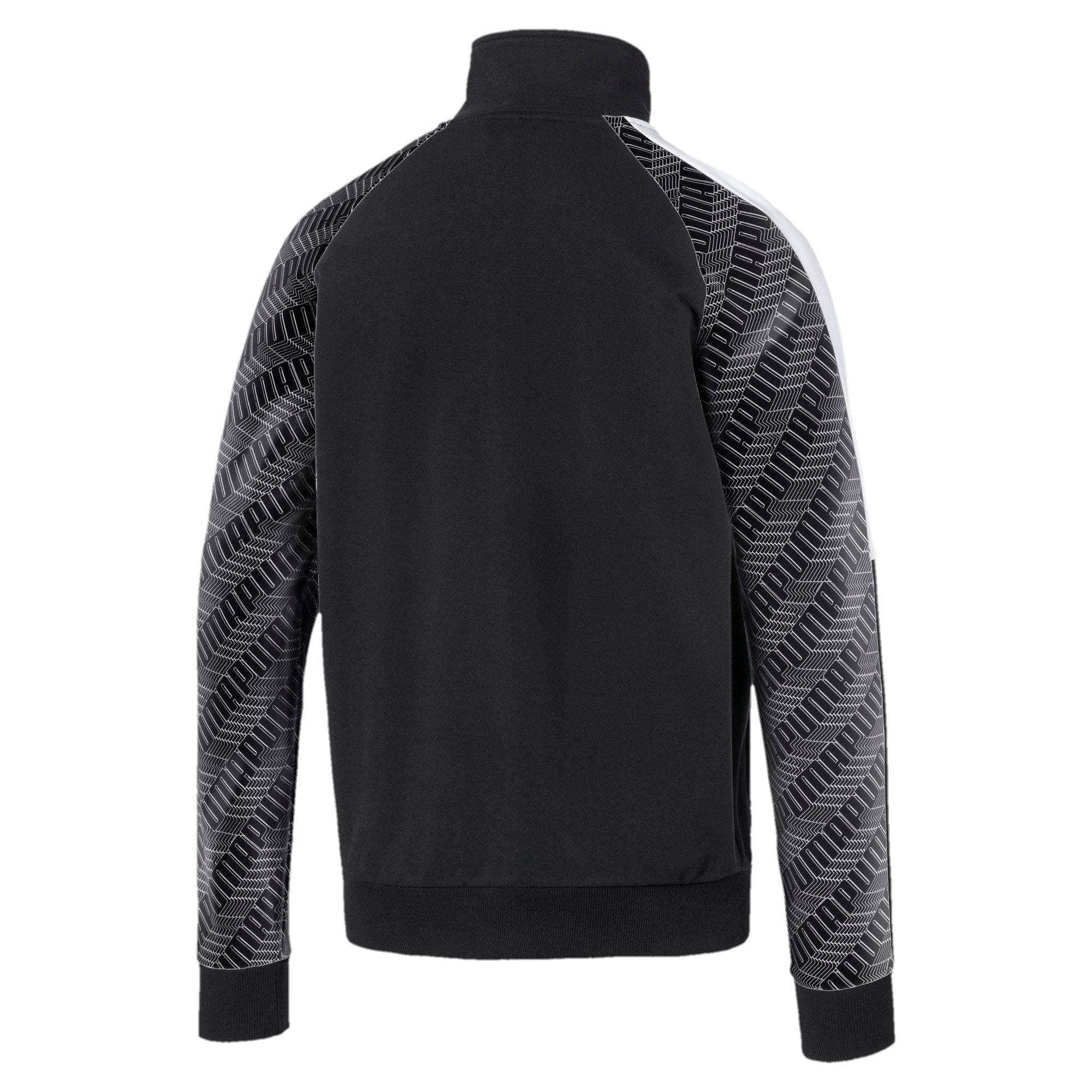 Thumbnail 2 of T7 Men's AOP Track Jacket, Puma Black-Repeat logo, medium