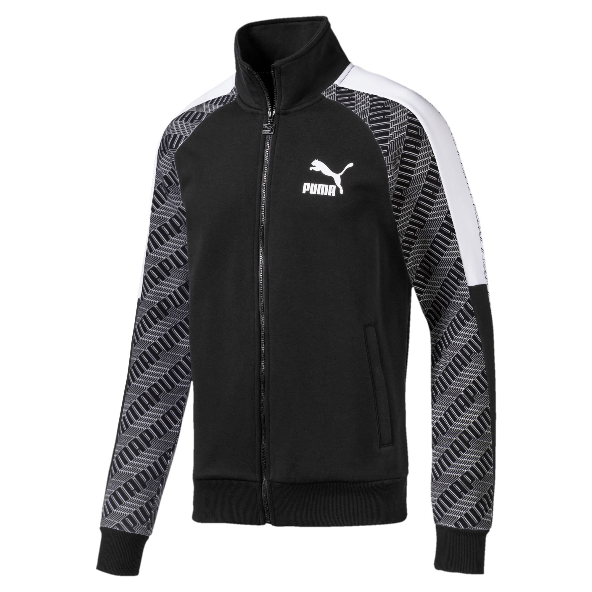 Thumbnail 1 of T7 All-Over Printed Men's Track Jacket, Puma Black-Repeat logo, medium-IND