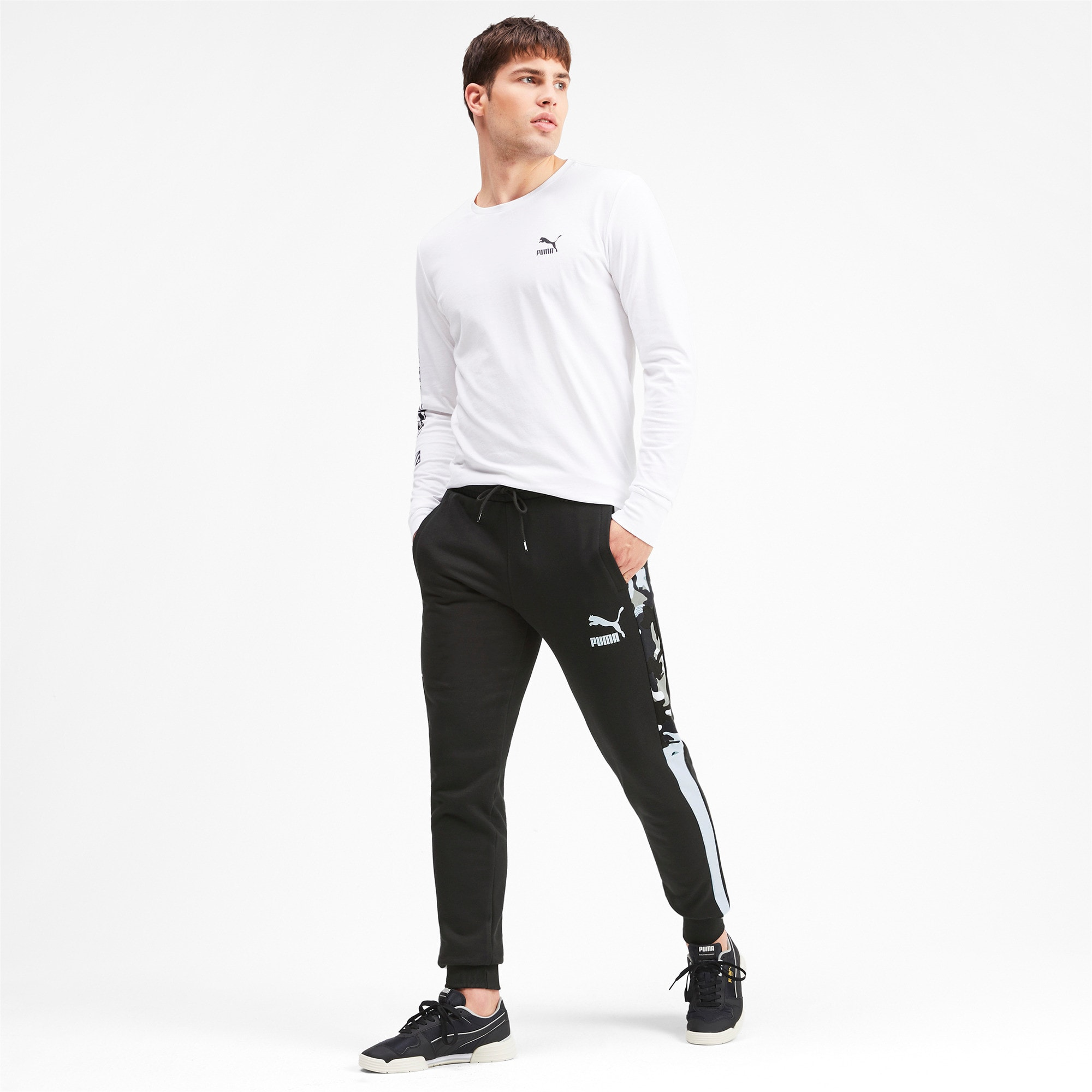 Thumbnail 3 of T7 Men's AOP Track Pants, Puma Black, medium